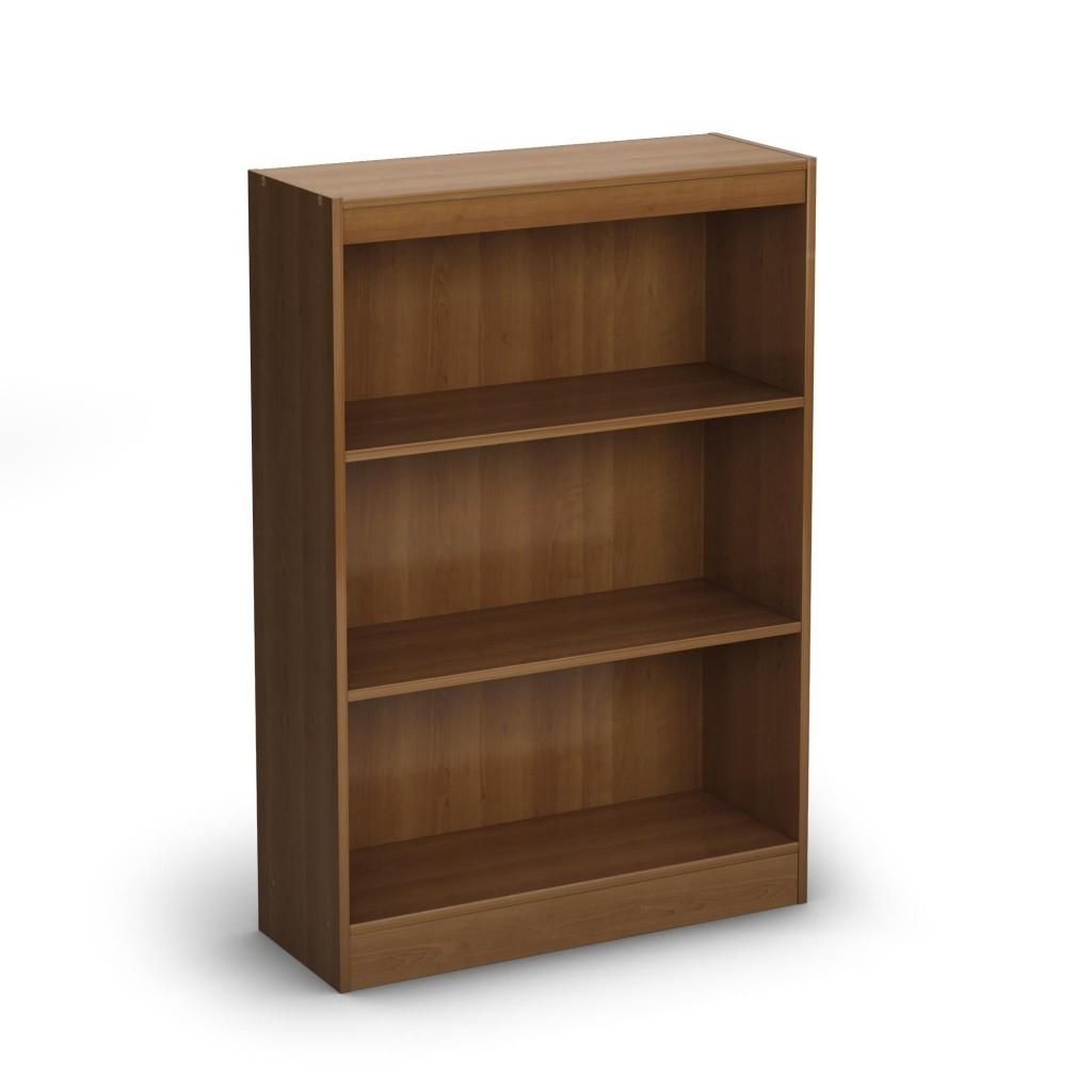 Most Current Bookcase Shelf Supports With Cute South Shore Axess 3 Shelf Intended For 3 Shelf Bookcases (View 15 of 15)
