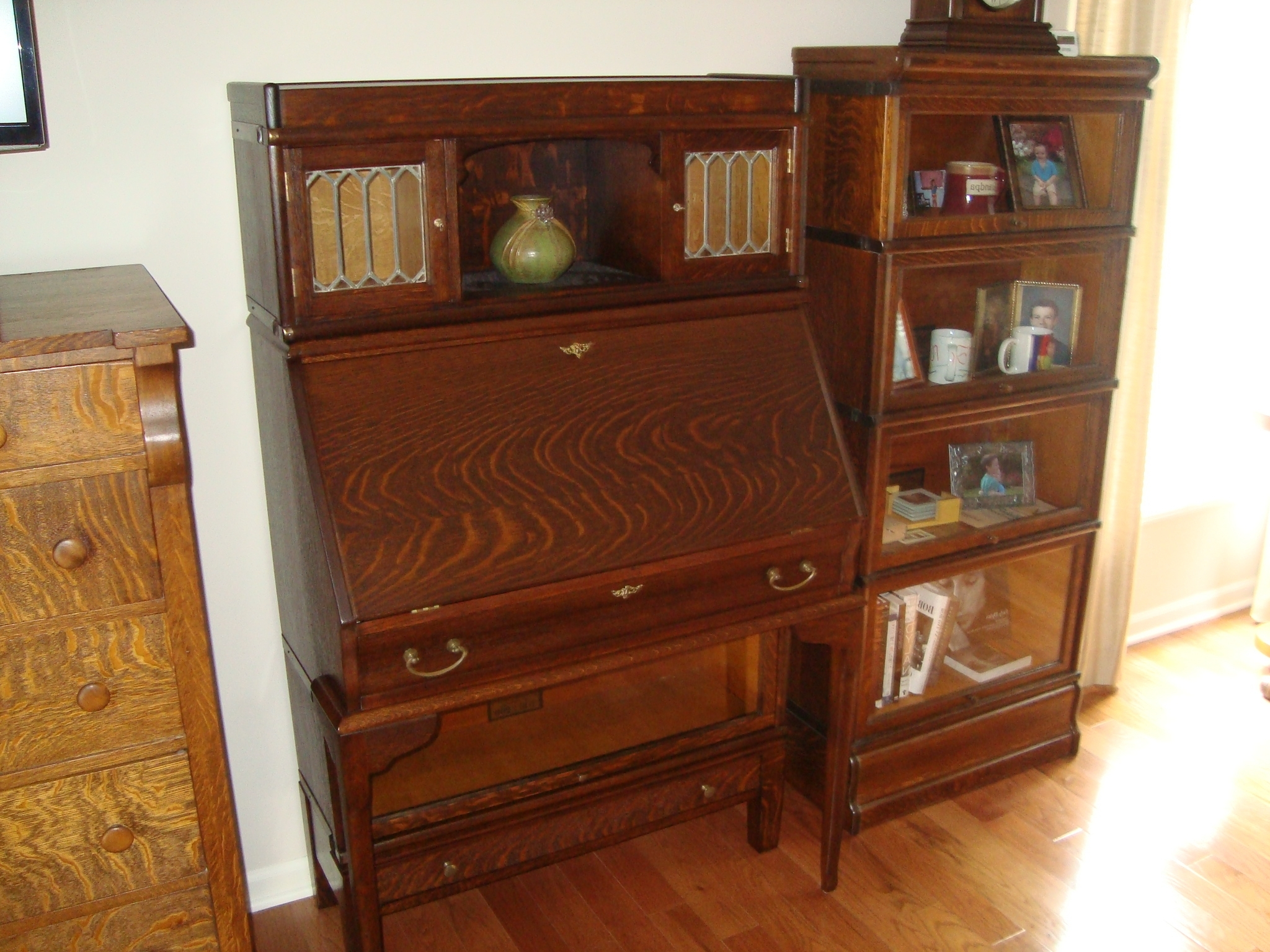Most Current Bookcases With Desk In Rare Globe Wernicke Bookcase With Desk, Drawer Base, And Top (View 10 of 15)