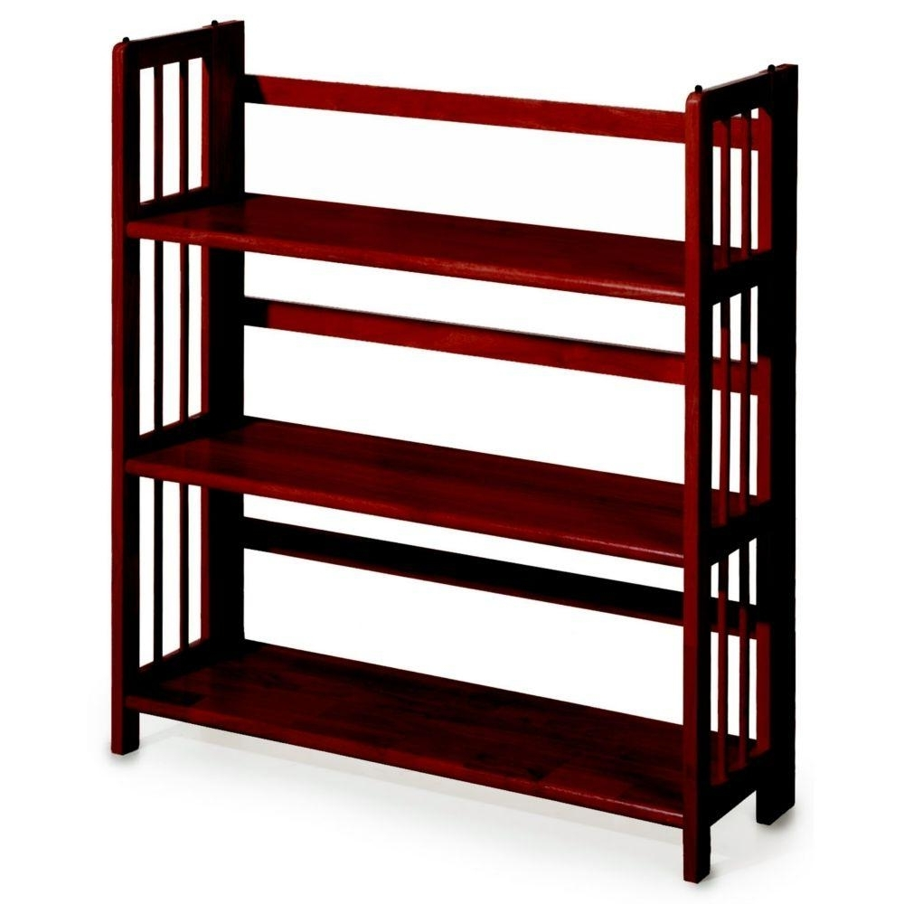 Most Current Casual Home Mahogany Folding/stacking Open Bookcase 0949510260 For Small Bookcases (View 6 of 15)