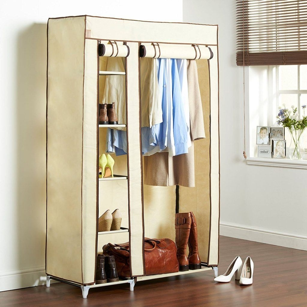 Most Current Double Rail Wardrobes Argos For Canvas Wardrobes – Storage Ideas (View 12 of 15)