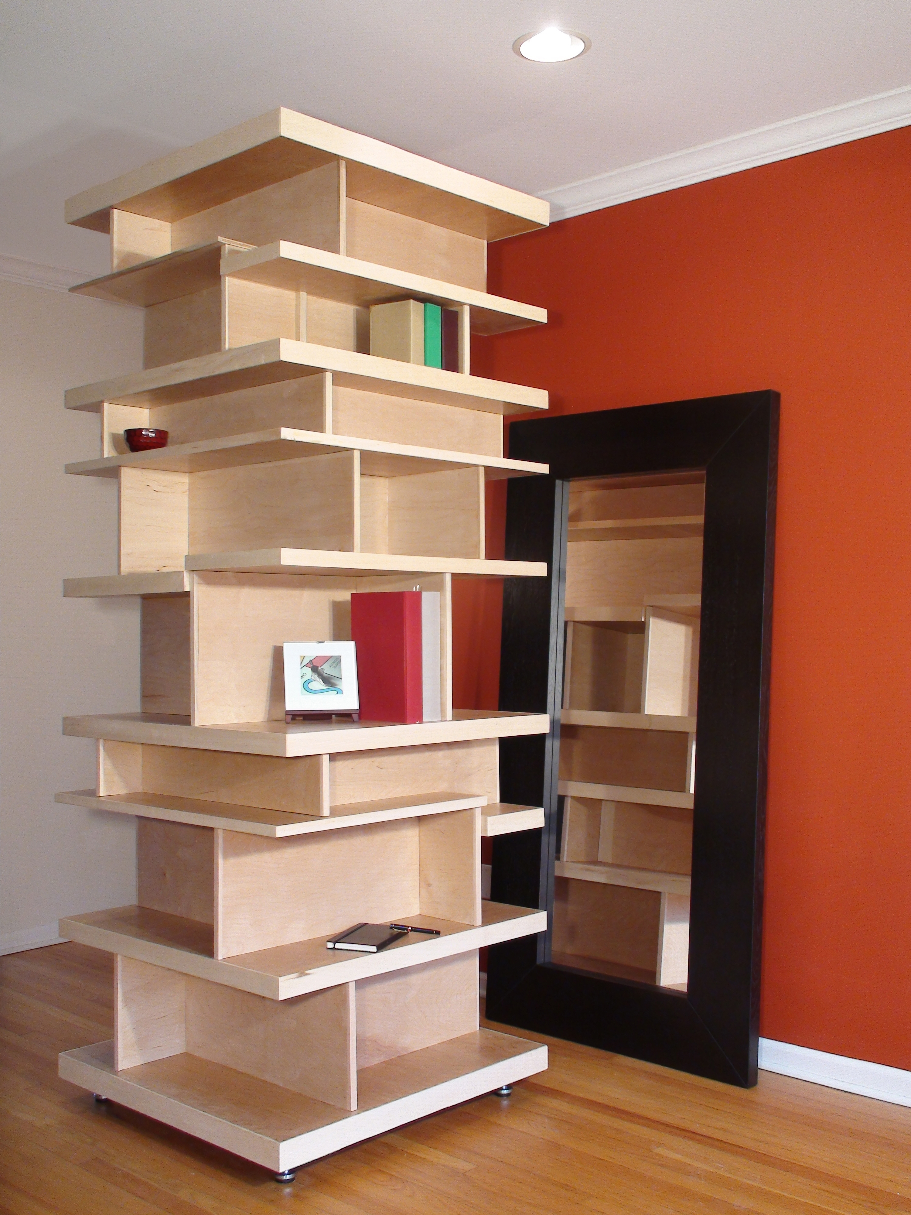 Most Current Freestanding Bookshelves Throughout Stackable Modular Freestanding Shelf System Room Divider – Non (View 7 of 15)