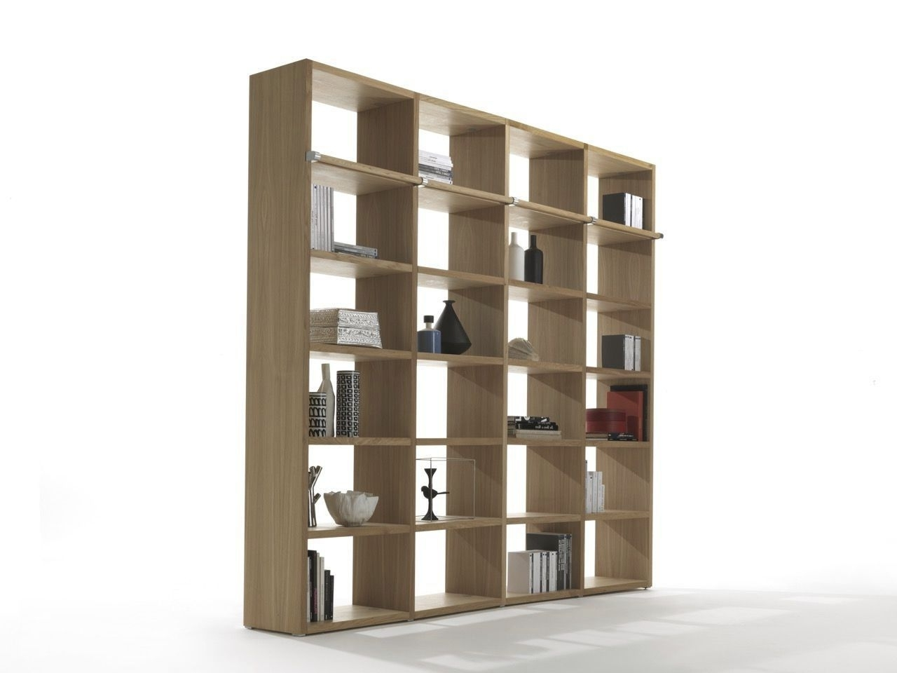 Most Current Modular Bookcases Pertaining To Modular Bookcase / Contemporary / Oak / Solid Wood – Wallstreet (View 11 of 15)