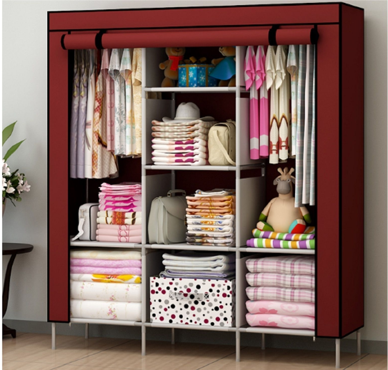 Most Current New Portable Bedroom Furniture Clothes Wardrobe Closet Storage For Mobile Wardrobes Cabinets (View 7 of 15)