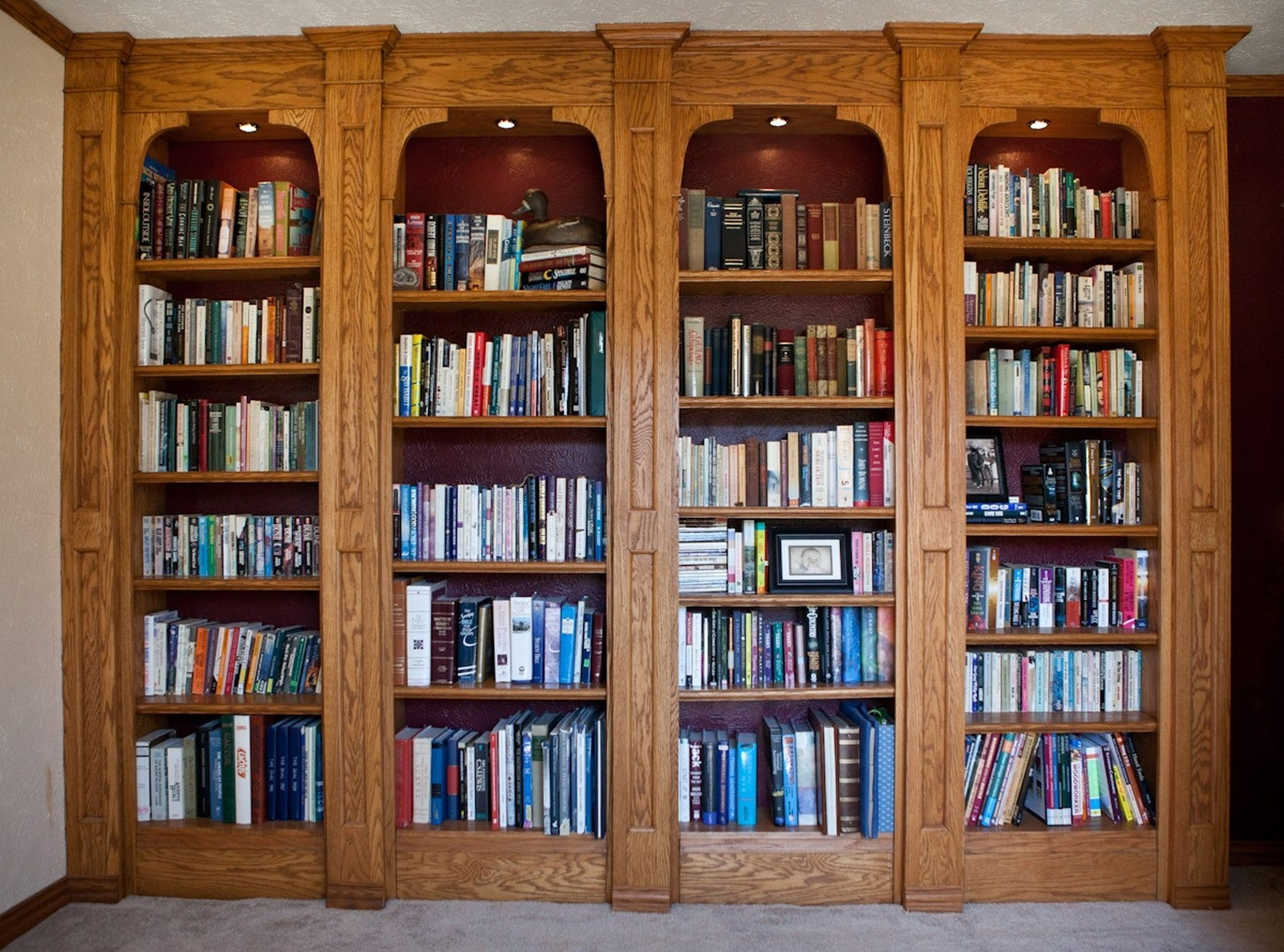Most Current Oak Library Bookcases Throughout Furniture Home: Furniture Home Library Bookcase With Glass Doors (View 5 of 15)