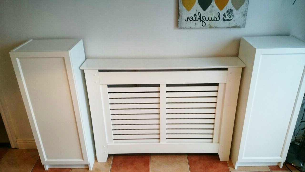 Most Current Radiator Cover With Bookcases Above Pertaining To Ikea Hack For Built In Dining Room Storagewhen You Have To Work (View 4 of 15)