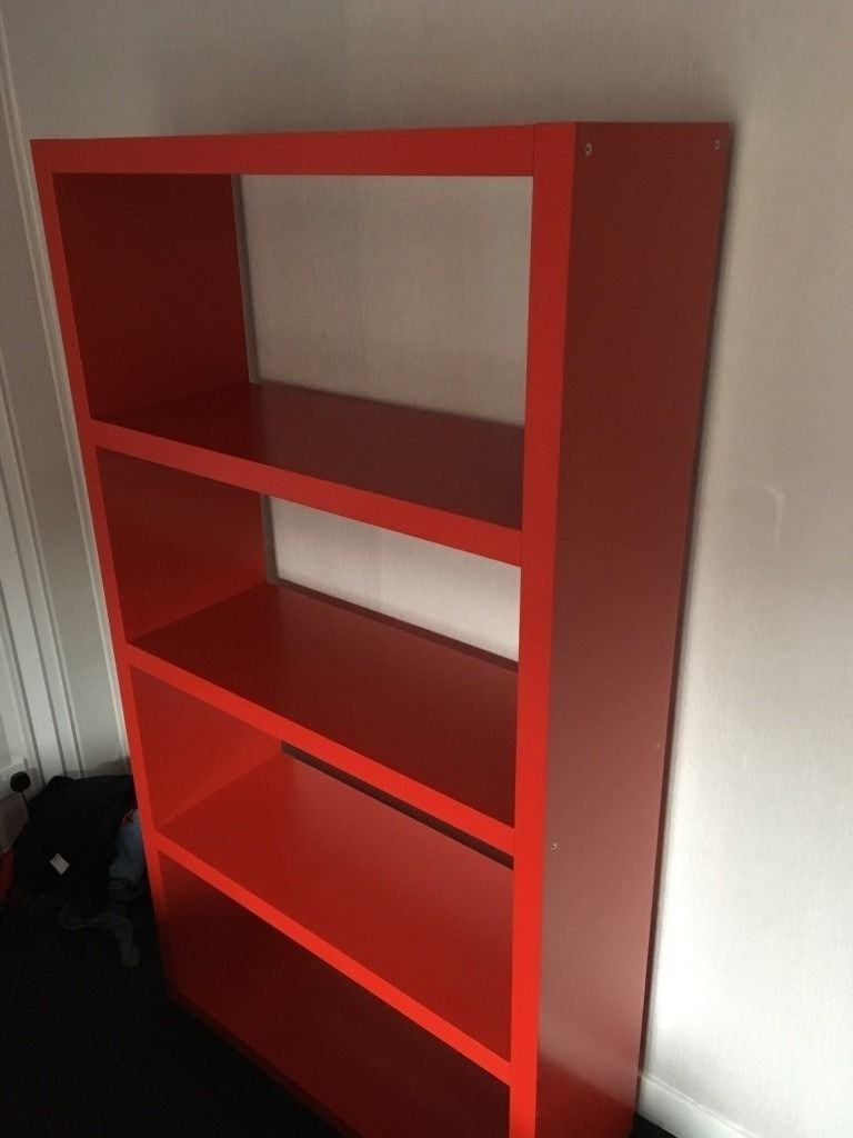 Most Current Red Bookcases Regarding Amazing Red Ikea Bookcase On Fancy Bookcases With Design Modern (View 14 of 15)