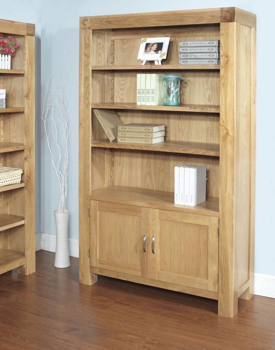 Most Current Santana Blonde Oak 2 Door Bookcase Regarding Cupboard Bookcases (View 11 of 15)