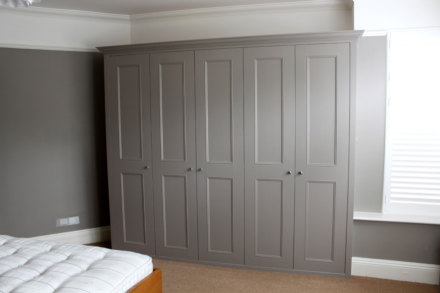 Most Current Solid Wood Fitted Wardrobes With Regard To Fitted Wardrobes Around Bed Uk Bedroom Wardrobe Designs Cheap Ikea (View 2 of 15)