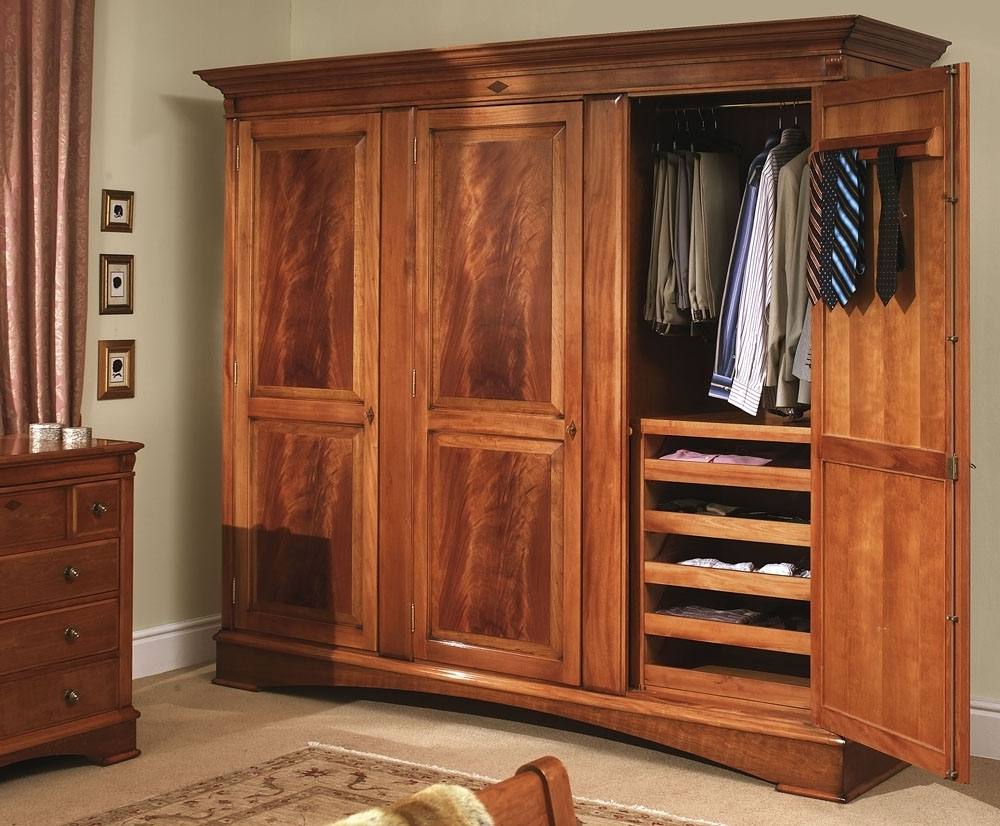 Most Current Solid Wood Wardrobes Closets Intended For Solid Wood Wardrobe With Drawers Fitted Wardrobes Sliding Doors (View 12 of 15)