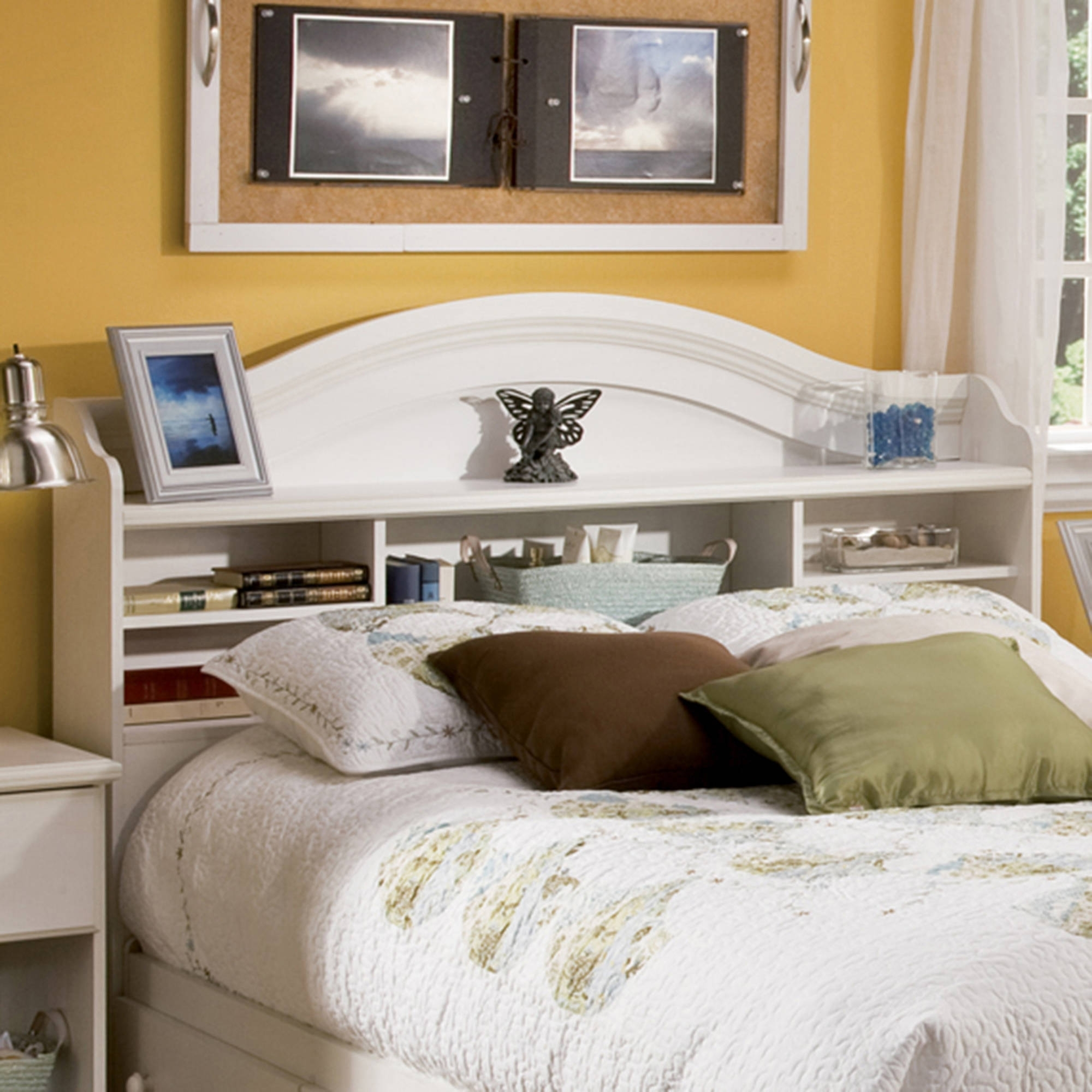 Most Current South Shore Summer Breeze Full Bookcase Headboard, Multiple For Bookcases Headboard (View 13 of 15)
