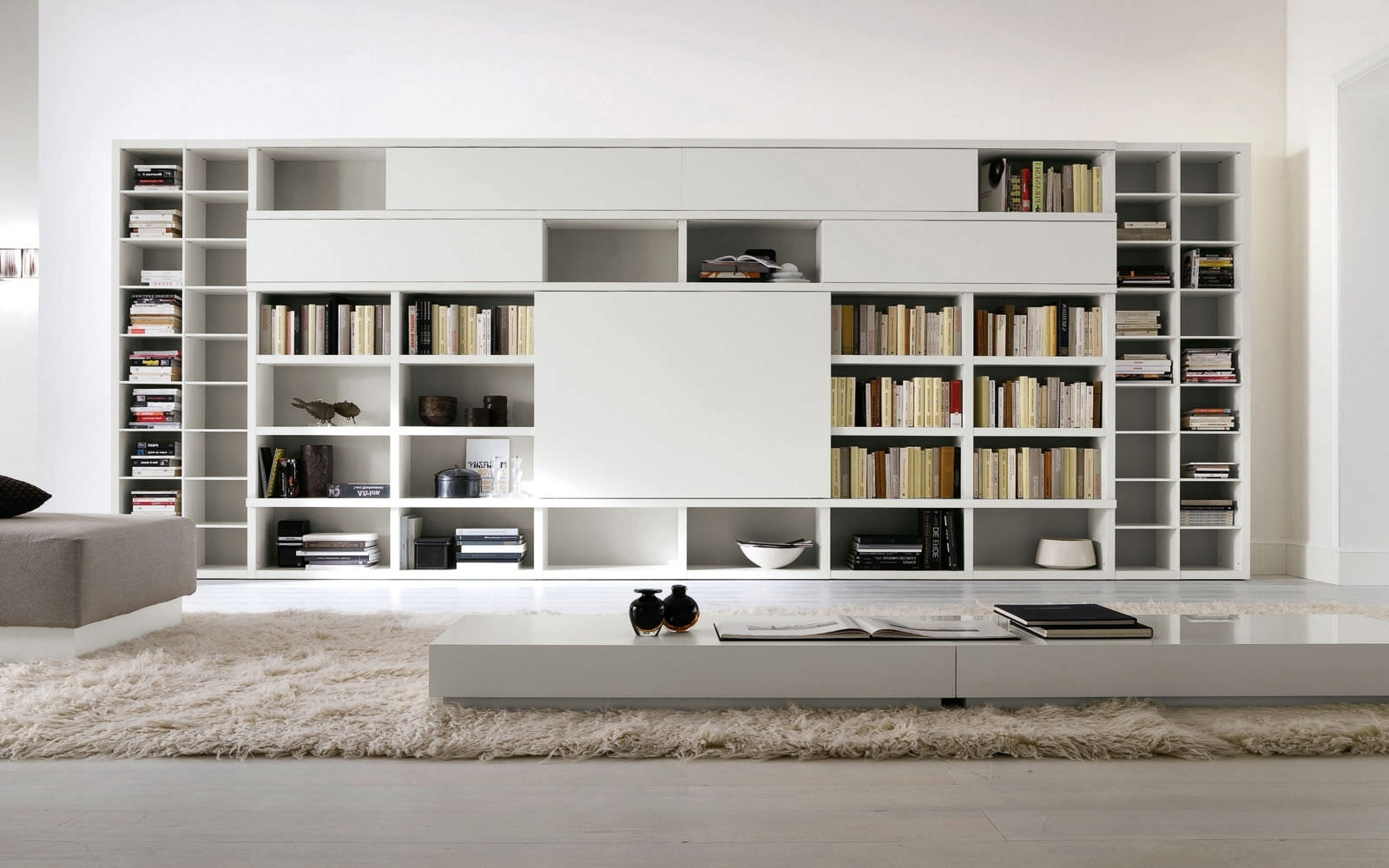 Most Current White Library Bookcases Within Perfect Home Library Furniture For Sale On Library Room Design (View 7 of 15)