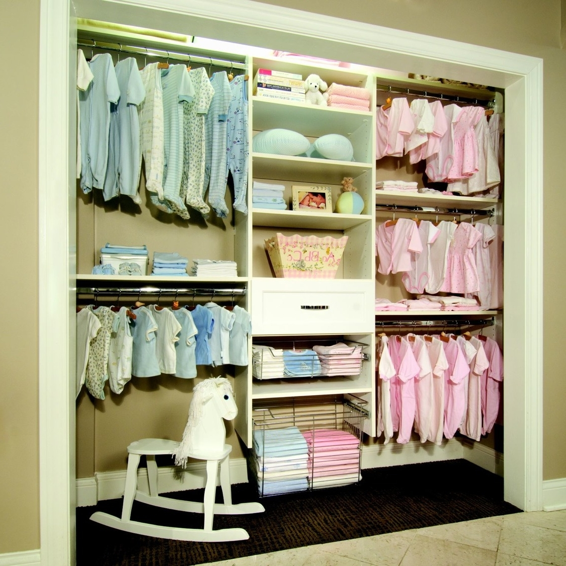 Most Organized Baby Closet I've Ever Seen (View 7 of 15)