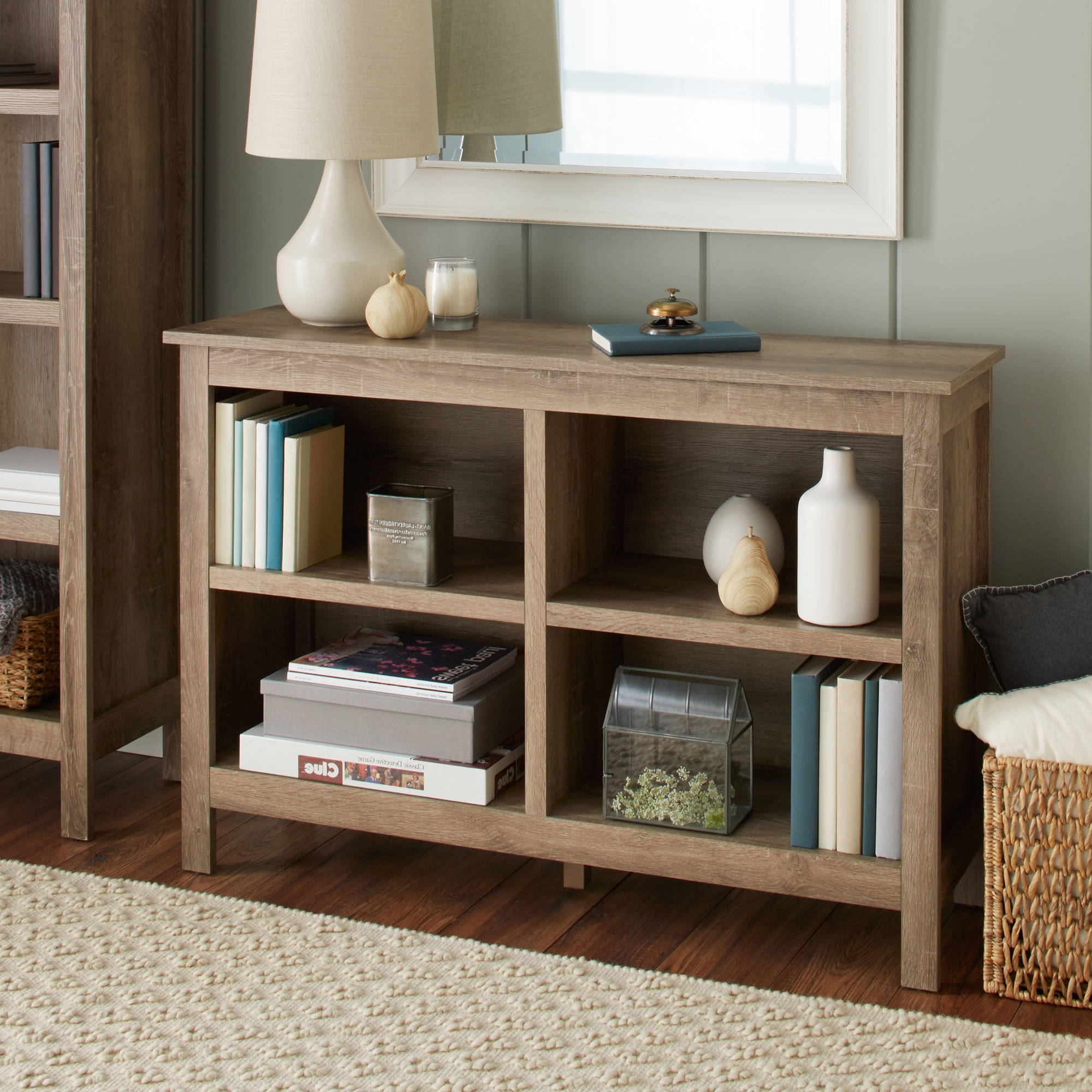 Most Popular 10 Spring Street Farmhouse Horizontal Bookcase – Walmart With Regard To Threshold Bookcases (View 15 of 15)