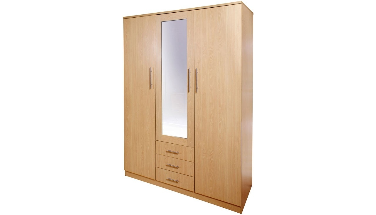 Most Popular 3 Door Wardrobe Furniture Canada B&m Cream French Awesome Best Inside 3 Door Wardrobes With Drawers And Shelves (View 9 of 15)