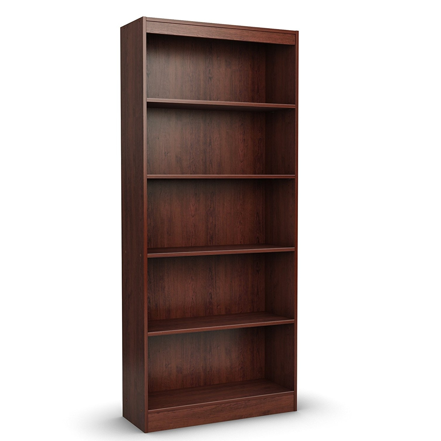 Most Popular Amazon: South Shore Axess Collection 5 Shelf Bookcase, Royal With Regard To Wood Bookcases (View 14 of 15)