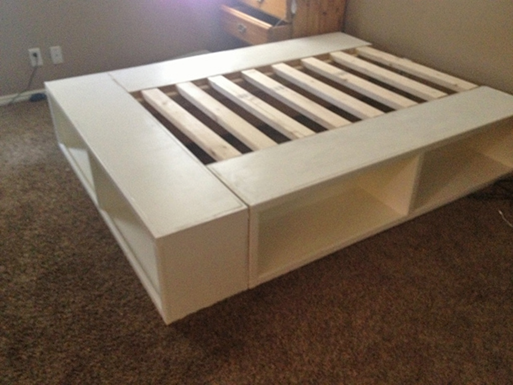 Most Popular Bookcase Bed Frame Diy : Bed And Shower – Bookcase Bed Frame With Intended For Bed Frame Bookcases (View 12 of 15)