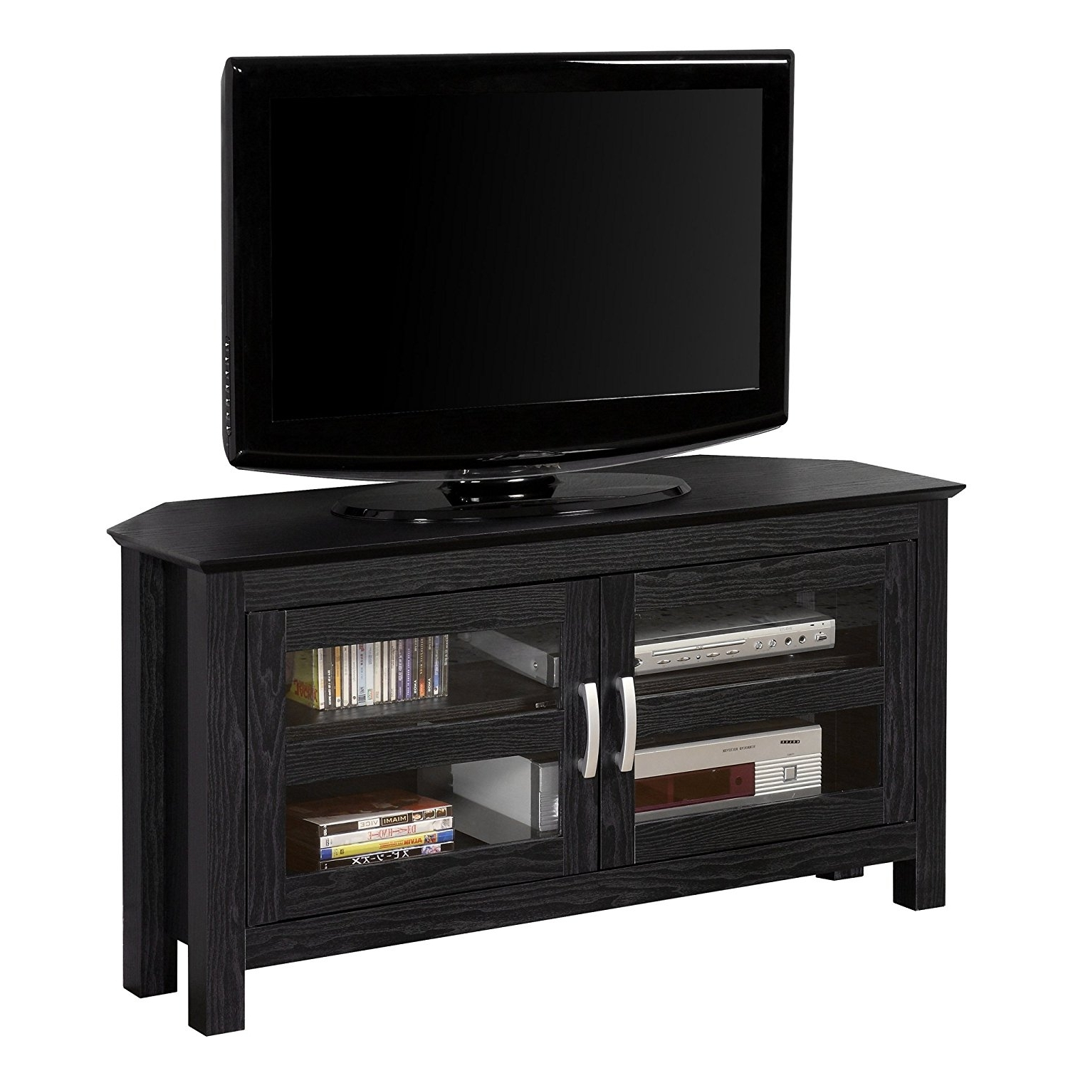 Most Popular Console Tables : Corner Tv Stand Console Table Painted Gola Regarding Tv Corner Shelf Unit (View 3 of 15)