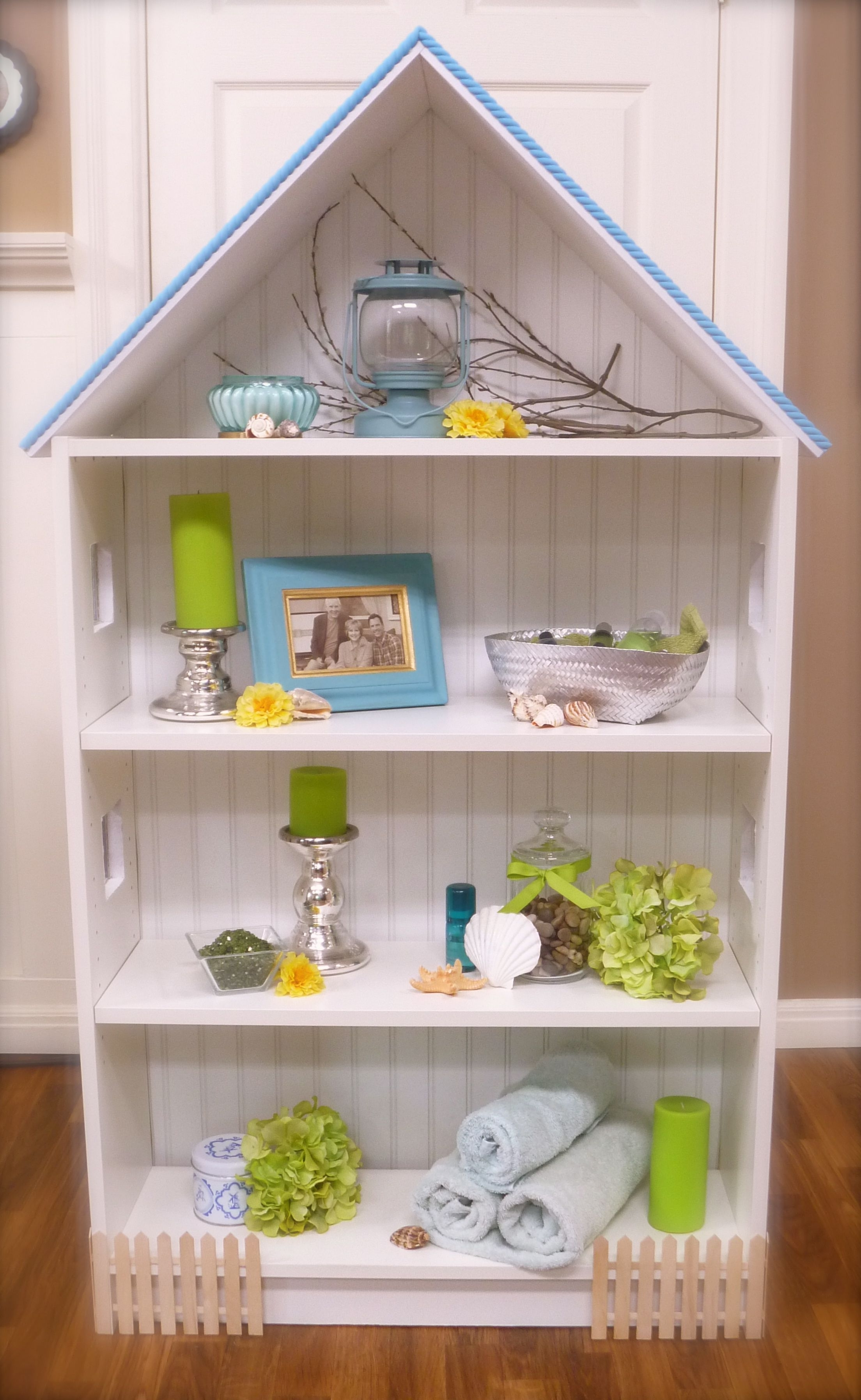 Most Popular Dollhouse Bookcase: Beach Cottage, Brick Row House — Cute Ikea Regarding Dollhouse Bookcases (View 11 of 15)