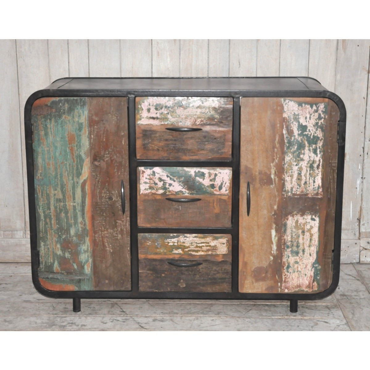 Most Popular Handmade Cupboards Pertaining To Industrial Handmade Sideboard – 2 Cupboards 3 Draws (View 11 of 15)