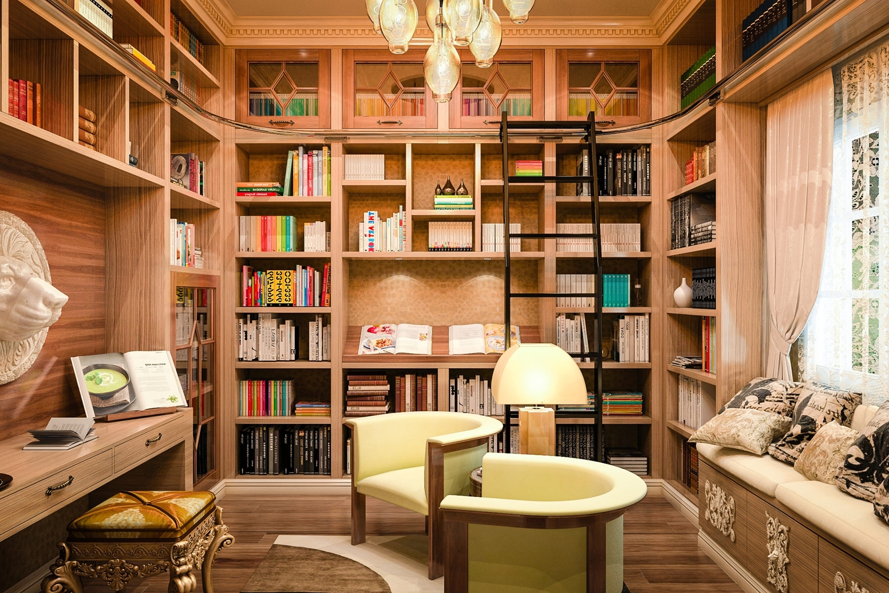 Most Popular Home Library Shelving. Latest With Home Library Shelving (View 4 of 15)