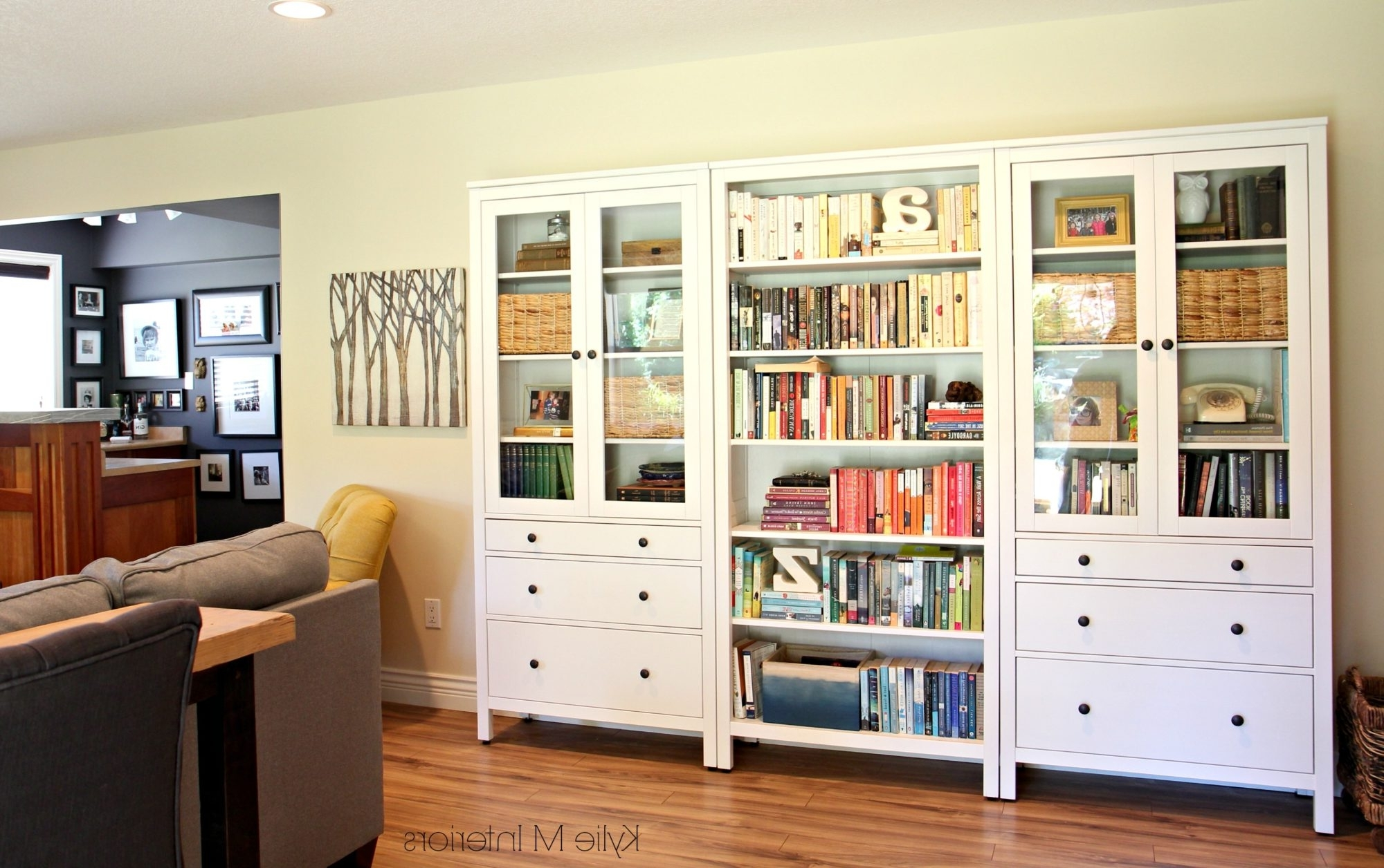 Most Popular How To Decorate A Long Wall, Ikea Hemnes Bookcase With Regard To Hemnes Bookcases (View 2 of 15)