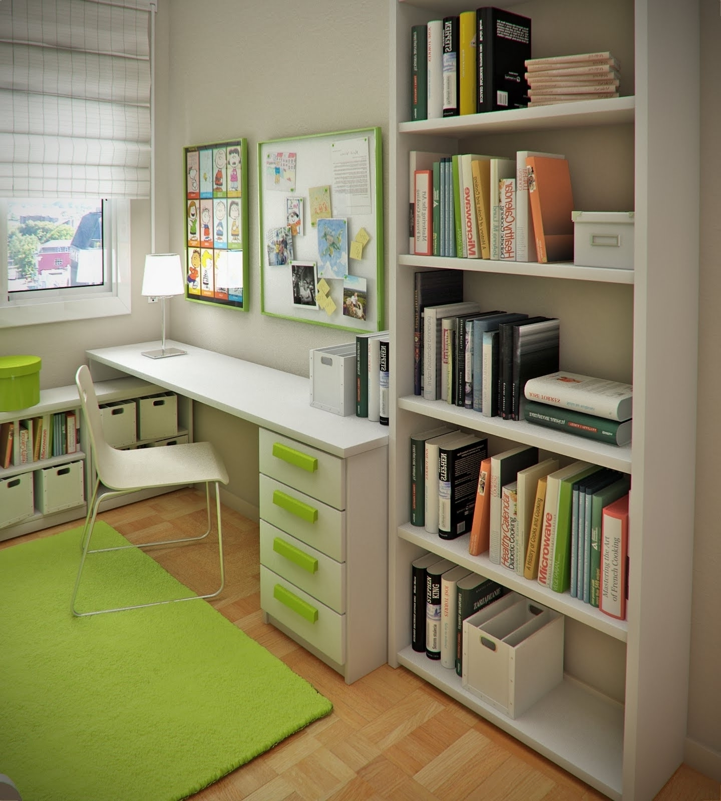 Most Popular Kids Room Bookshelves Ideas For Dromhgetop In Green Soft Carpet With Study Shelving Ideas (View 5 of 15)