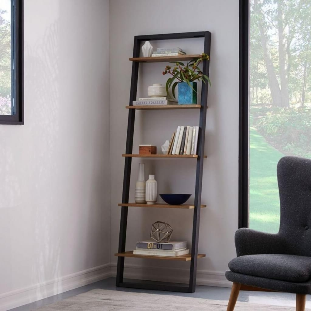 Most Popular Ladder Style Bookshelves – Storage Ideas With West Elm Bookcases (View 10 of 15)