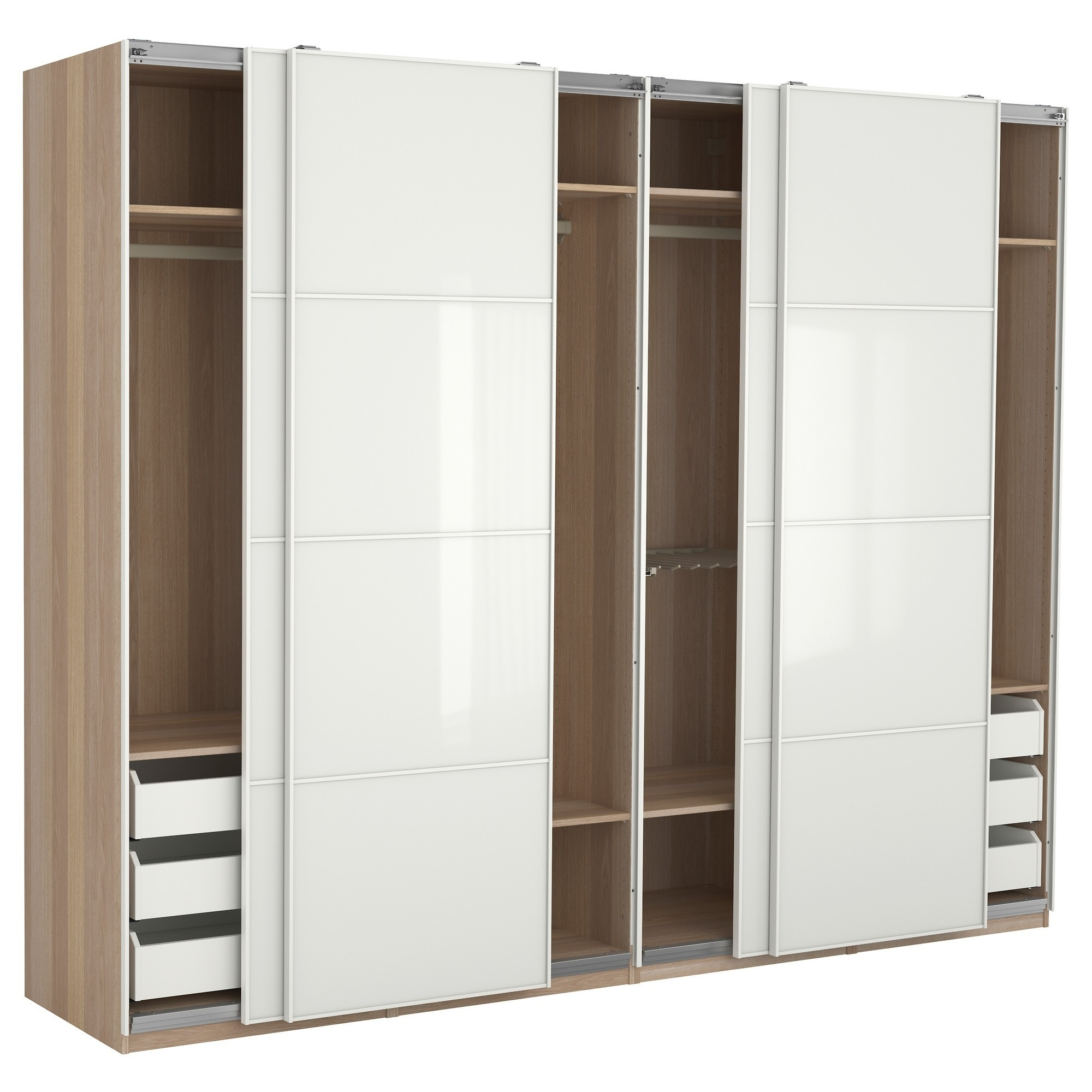Most Popular Large Wooden Wardrobes Intended For Large Metal Wardrobe Closet Cabinet Wardrobes Armoire Which Will (View 9 of 15)