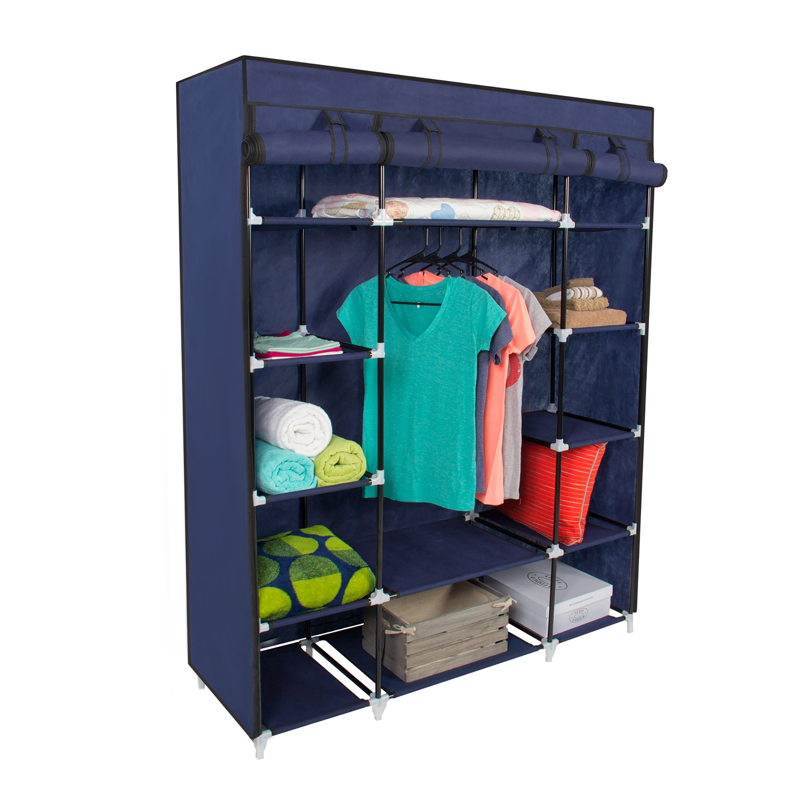 Most Popular Mobile Wardrobes Cabinets With Closet Storage : Metal Portable Closet Wood Closet Cabinets Wooden (View 8 of 15)