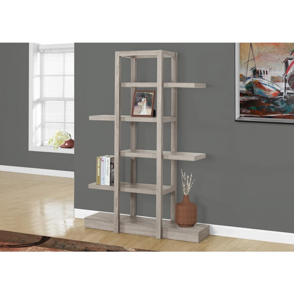 Most Popular Monarch Specialties 5 Shelf Dark Taupe Display Etagere I 2539 Throughout Monarch Bookcases (View 12 of 15)