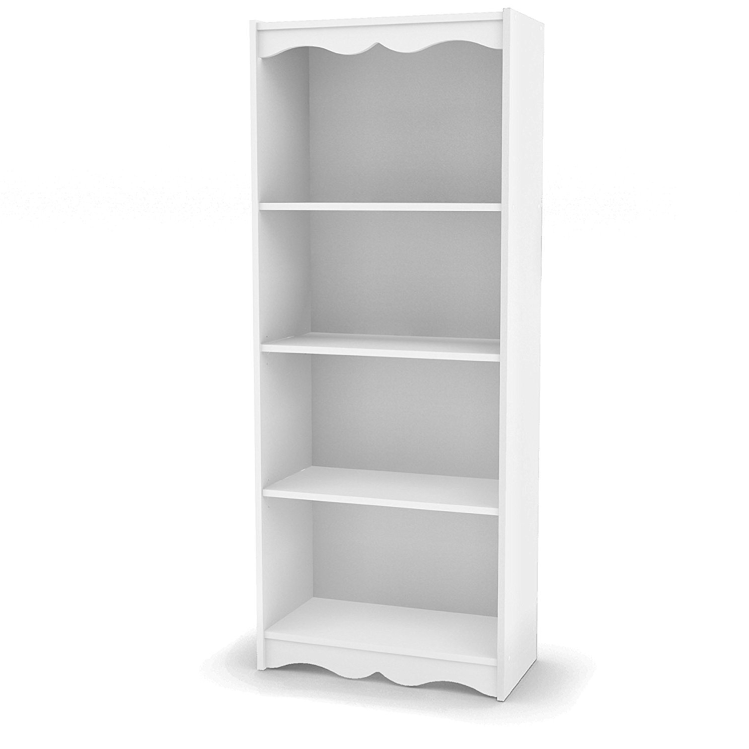 Most Popular Narrow White Bookcases Regarding Amazon: Sonax Hawthorn 60 Inch Tall Bookcase, Frost White (View 6 of 15)
