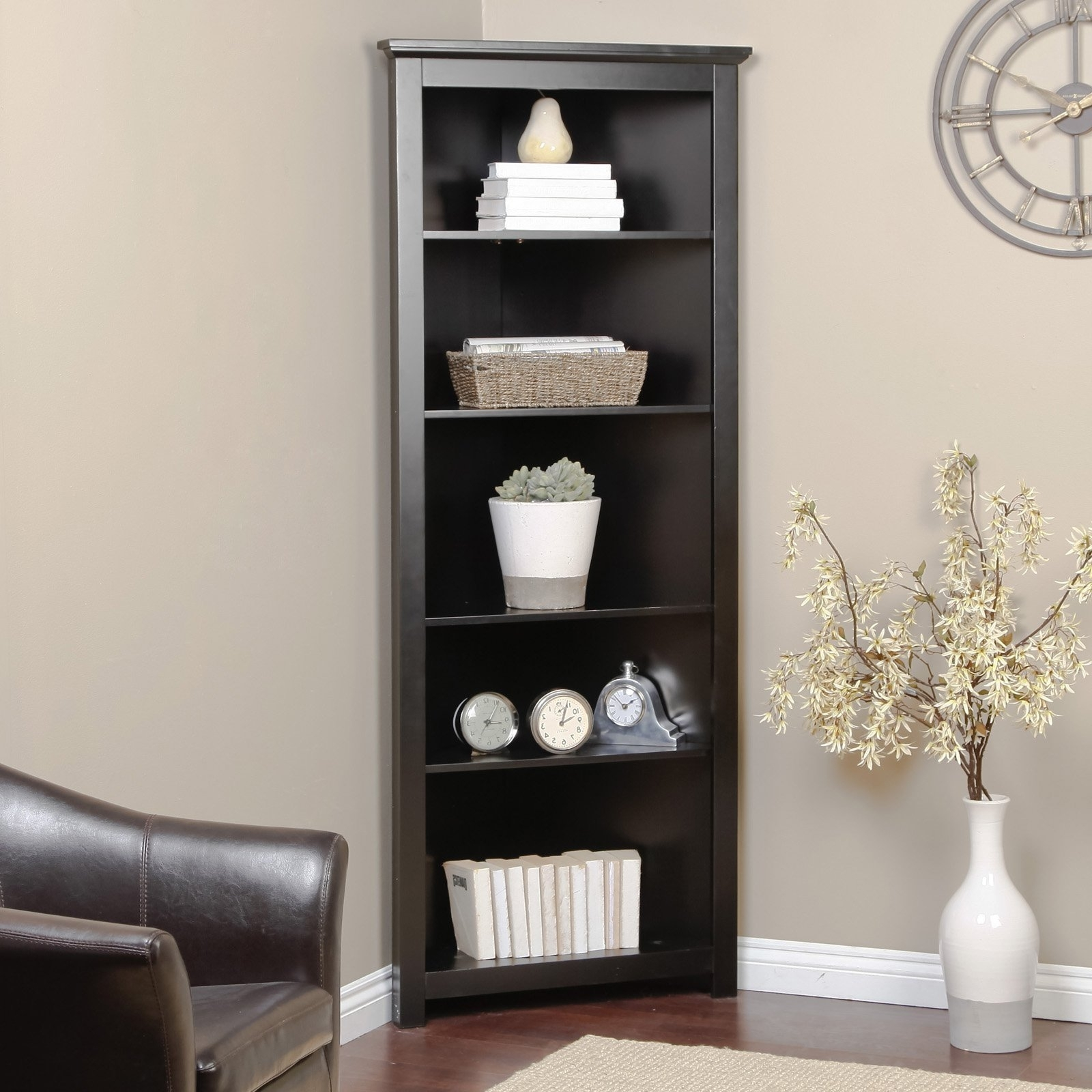 Most Popular The Pros And Cons Of Using A Corner Bookcase – Home Decor Inside Black Corner Bookcases (View 13 of 15)