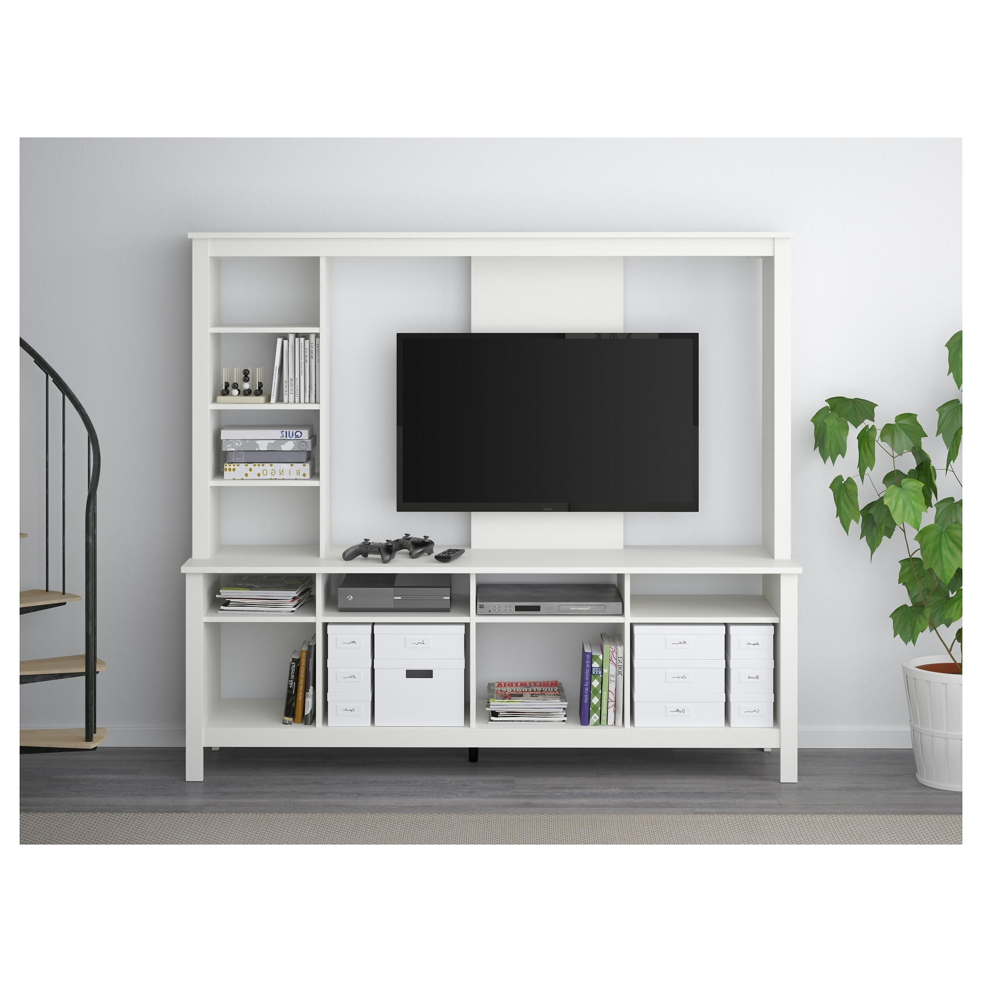 Most Popular Tv Storage Units With Regard To Tomnäs Tv Storage Unit White 183x48x163 Cm – Ikea (View 7 of 15)
