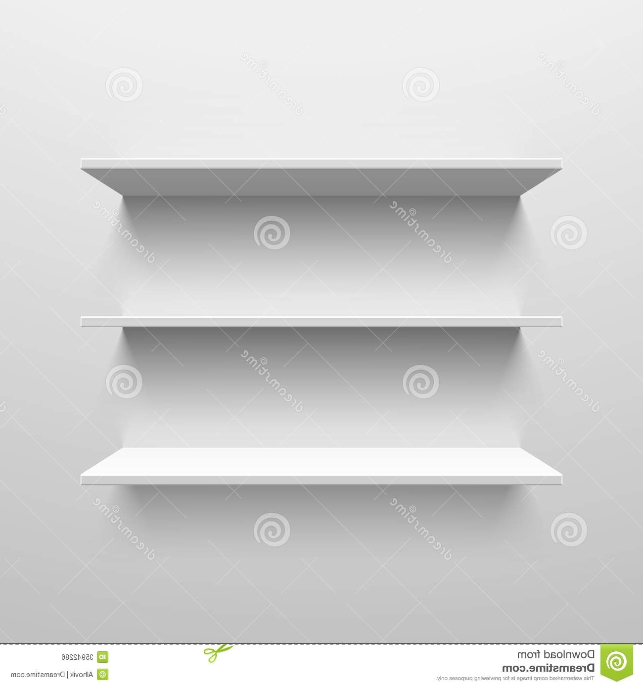 Most Popular White Wall Shelves Intended For Wall Shelves Stock Vector (View 4 of 15)