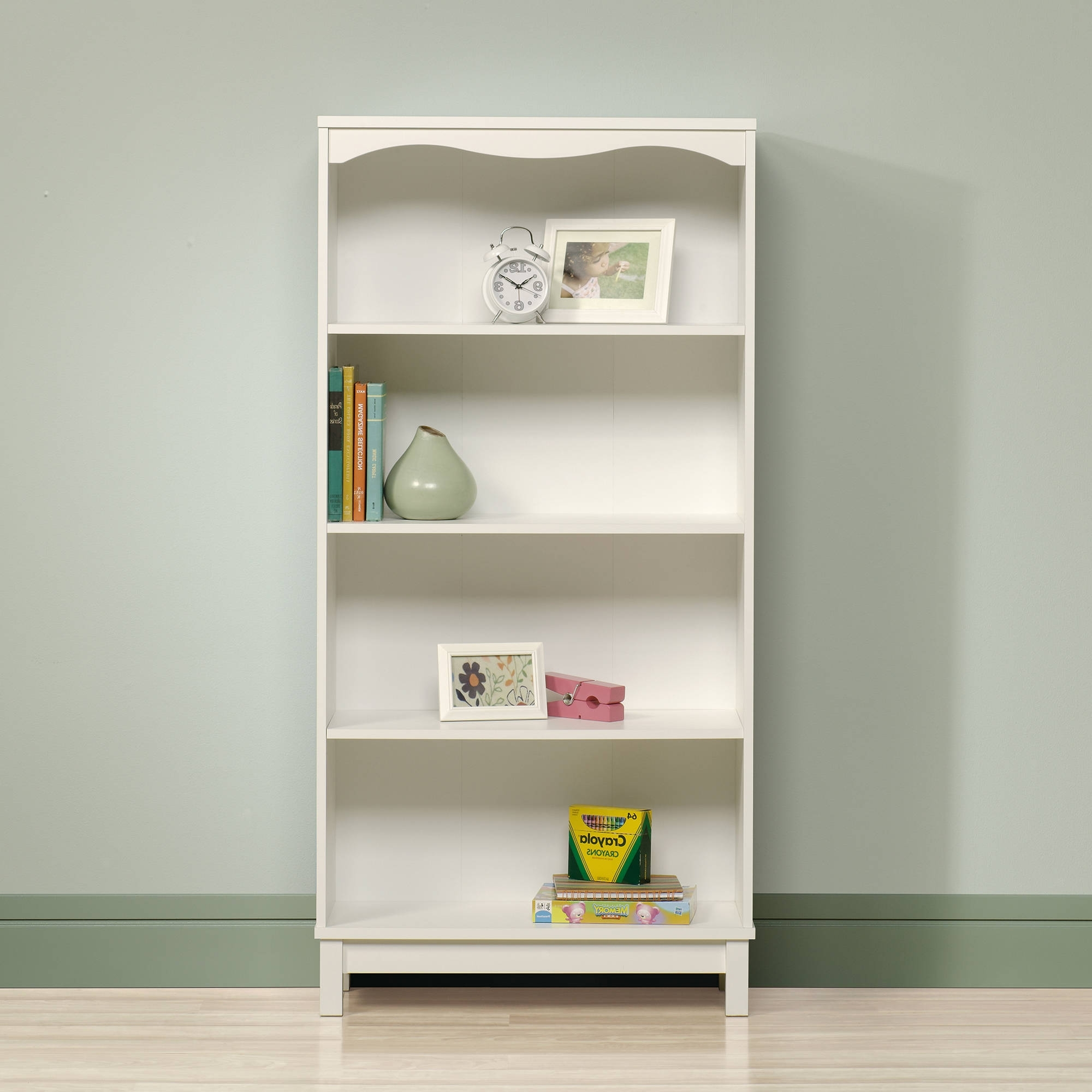 Most Popular White Walmart Bookcases Within Sauder Storybook Bookcase, Soft White – Walmart (View 8 of 15)