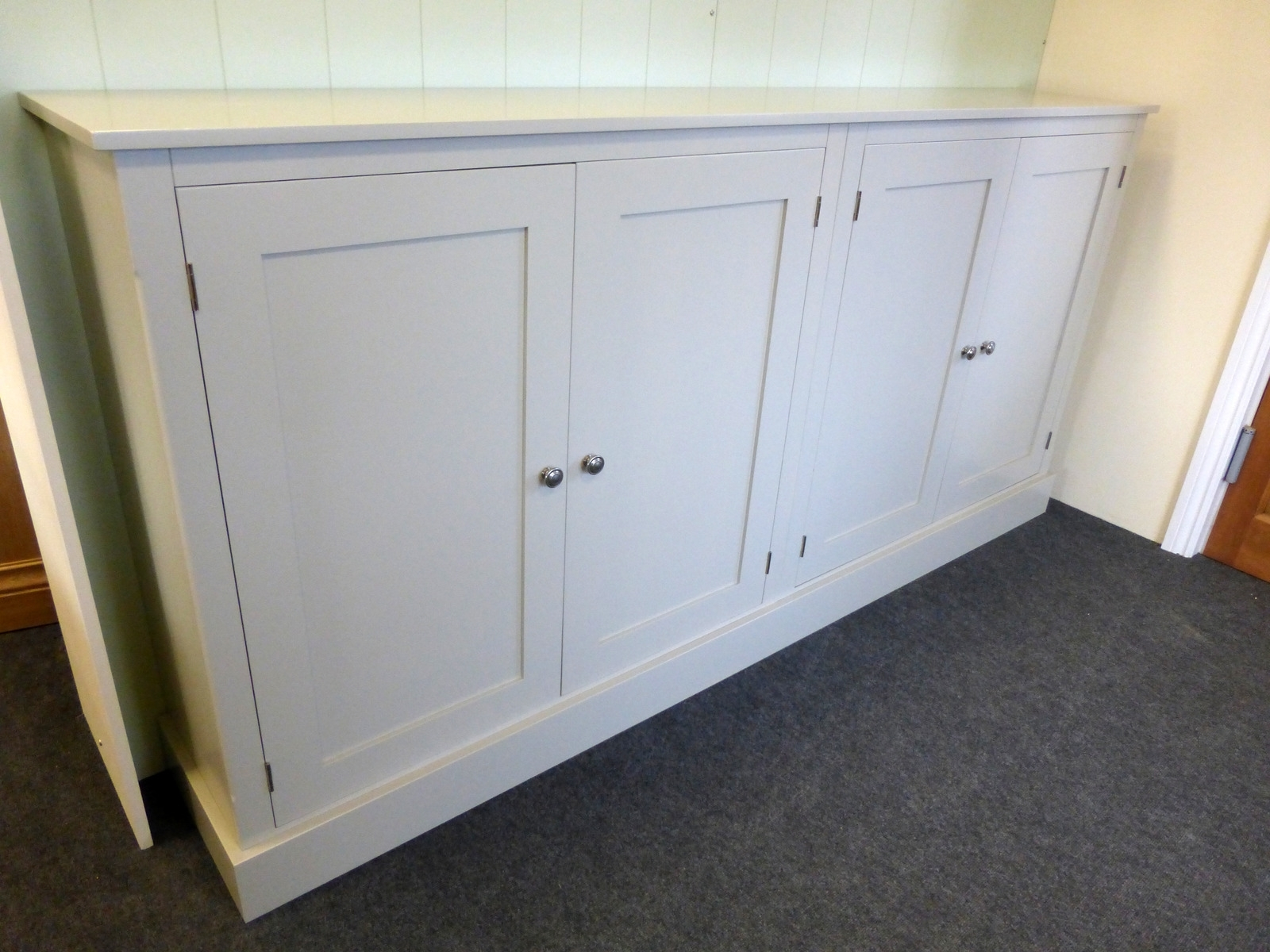 Most Popular Wide Four Door Storage Cupboard – Cupboards – Buy Pine, Oak Intended For Bespoke Cupboards (View 11 of 15)