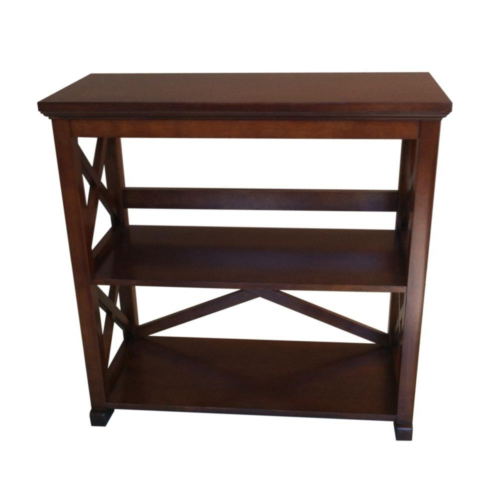 Most Recent 2 Shelf Bookcases Pertaining To Home Decorators Collection Brexley 2 Shelf Bookcase In Warm (View 12 of 15)