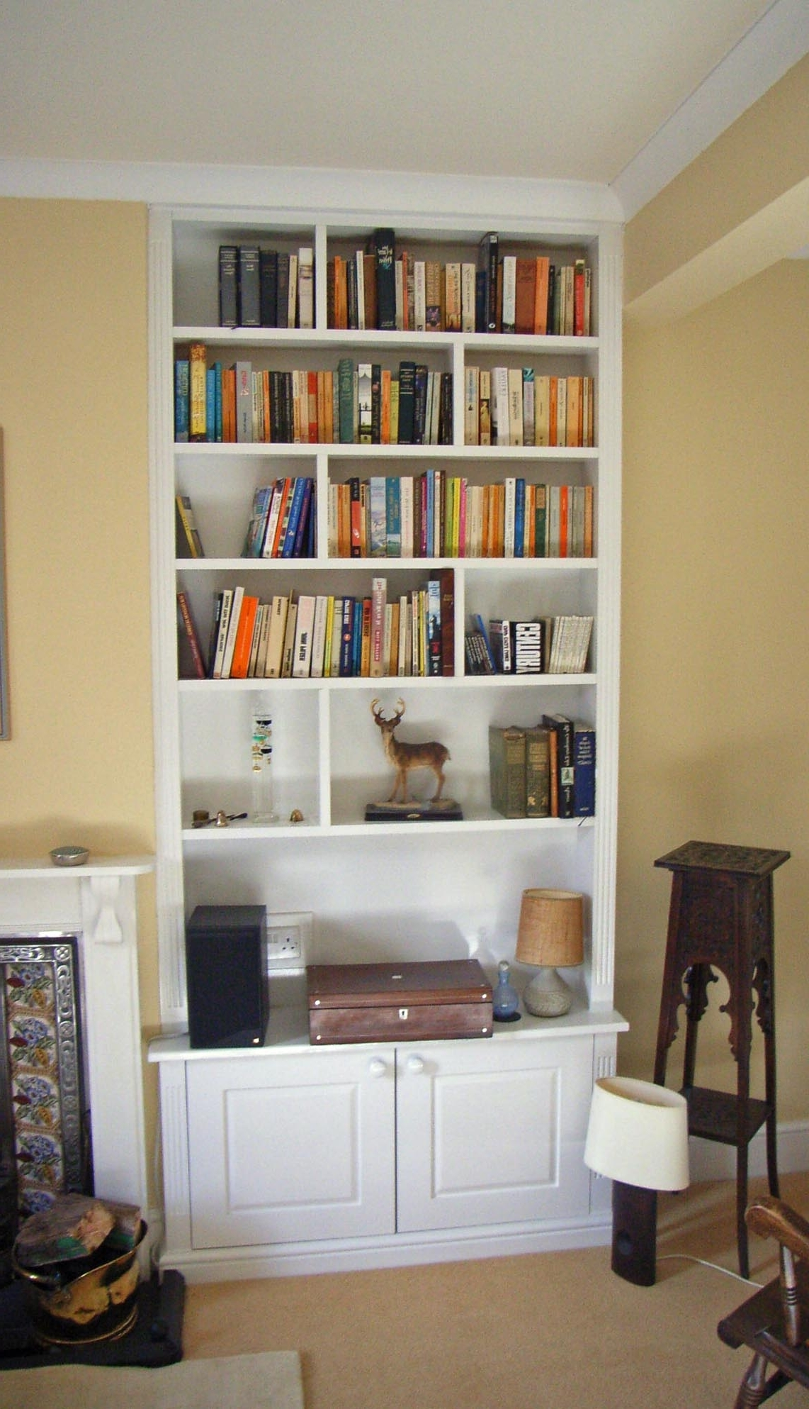 Most Recent Articles With Floating Glass Shelves In Alcove Tag: Shelving In With Shelves And Cupboards (View 7 of 15)