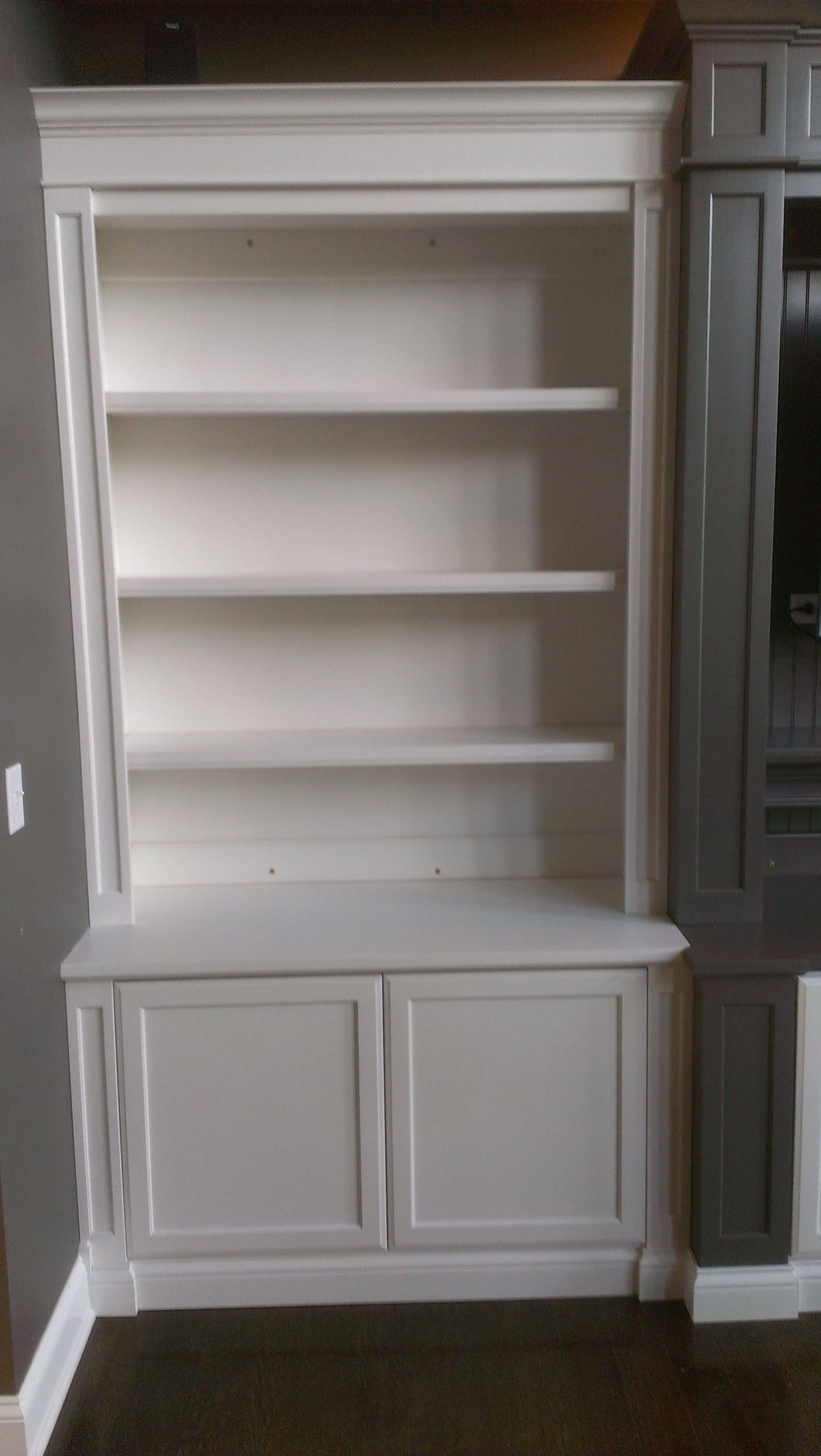 Most Recent Bookcases :c A Custom Woodworking Inc Intended For Cabinet Bookcases (View 6 of 15)