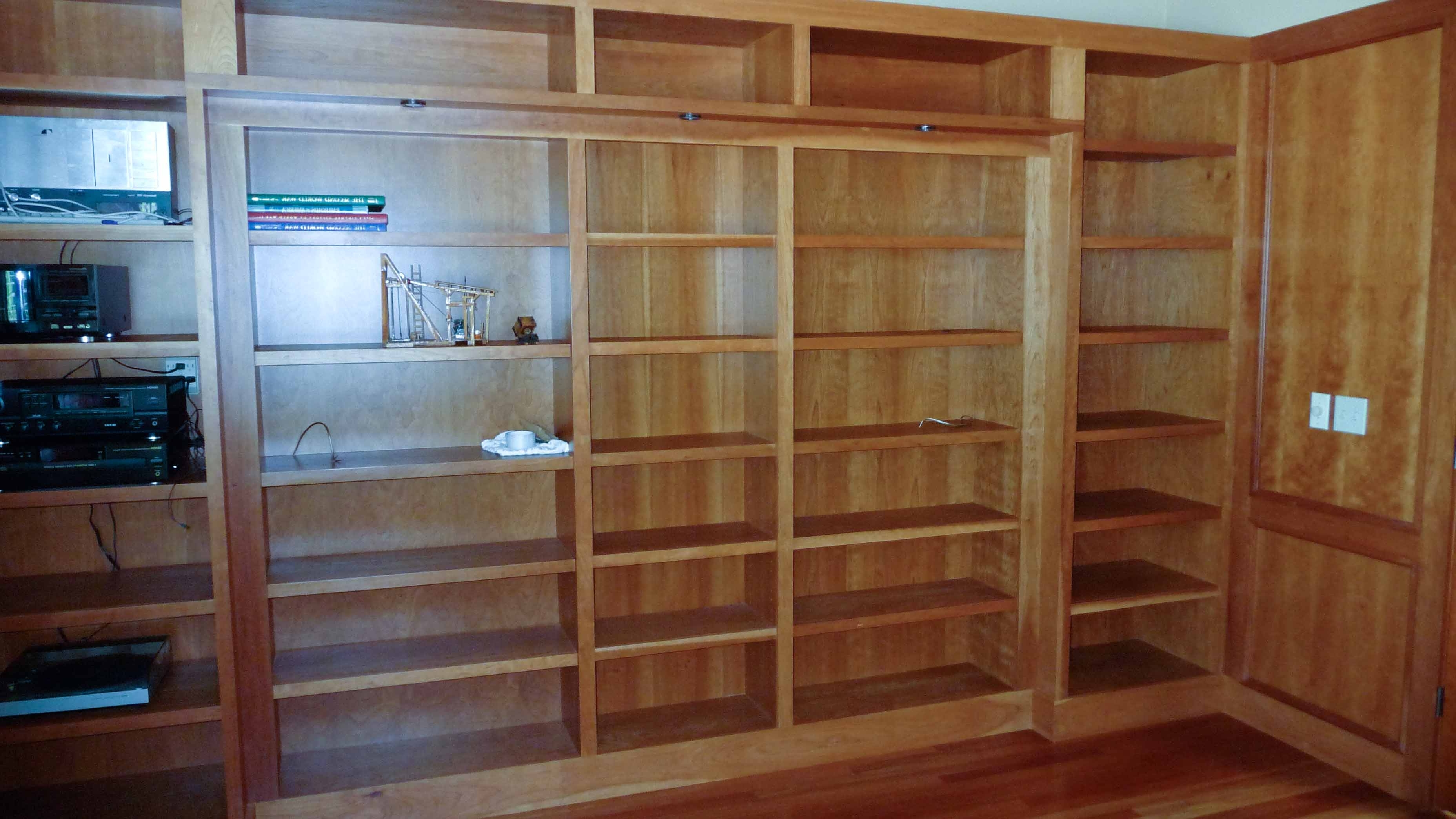 Most Recent Bookcases Cover Pertaining To Hidden Pivot Bookcase Installation (View 7 of 15)
