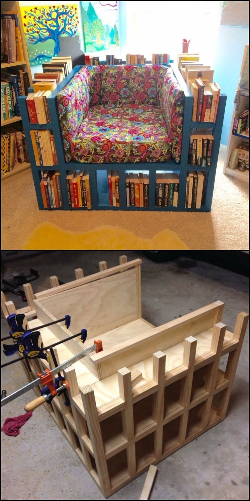 Most Recent Chair Bookcases Throughout Learn How To Build A Biblio Chair! Http://theownerbuildernetwork (View 9 of 15)