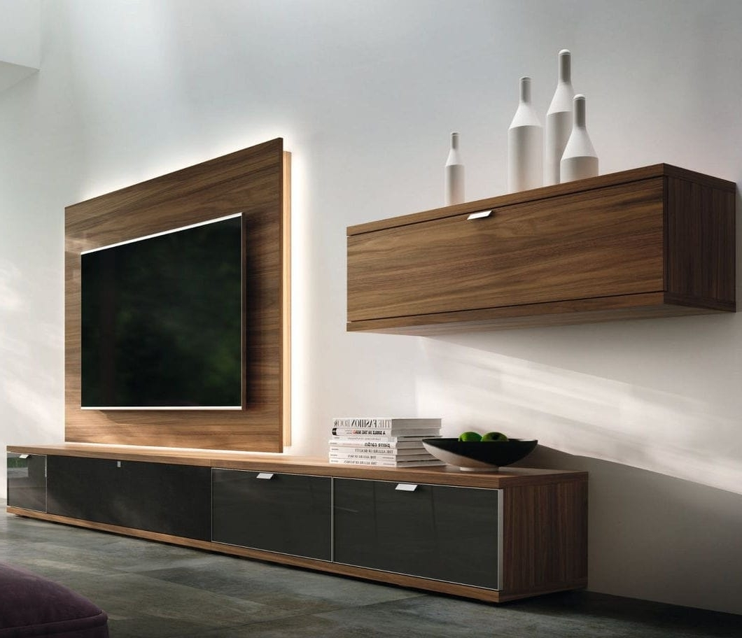 Most Recent Contemporary Tv Wall Unit / Walnut – Tameta – Hülsta Intended For Tv Wall Unit (View 10 of 15)