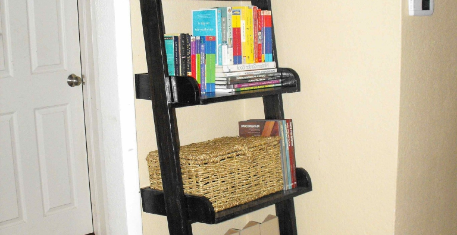 Most Recent Crate And Barrel Leaning Bookcases Regarding Shelf : Furniture Leaning Bookcase Leaning Ladder Shelf Leaning (View 14 of 15)