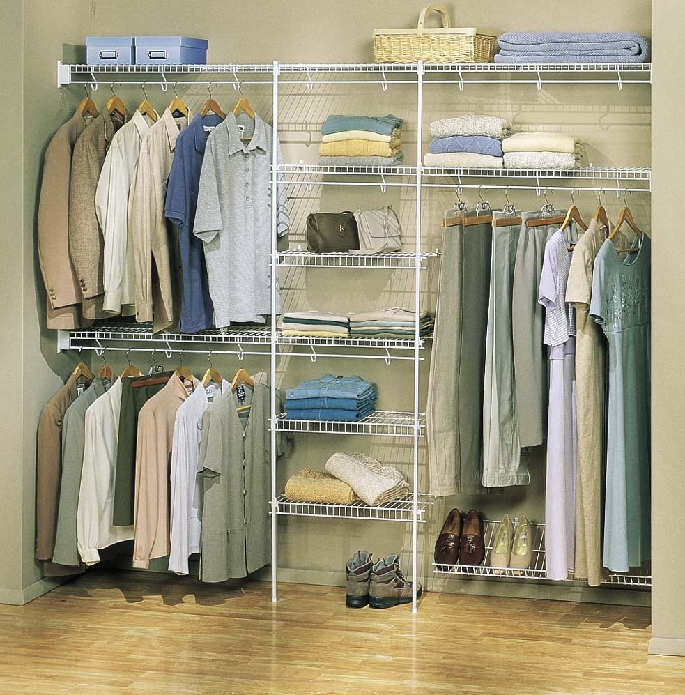 Most Recent Fresco Of Closet Organizers Lowes: Product Designs And Images Within Wardrobes Hangers Storages (View 7 of 15)