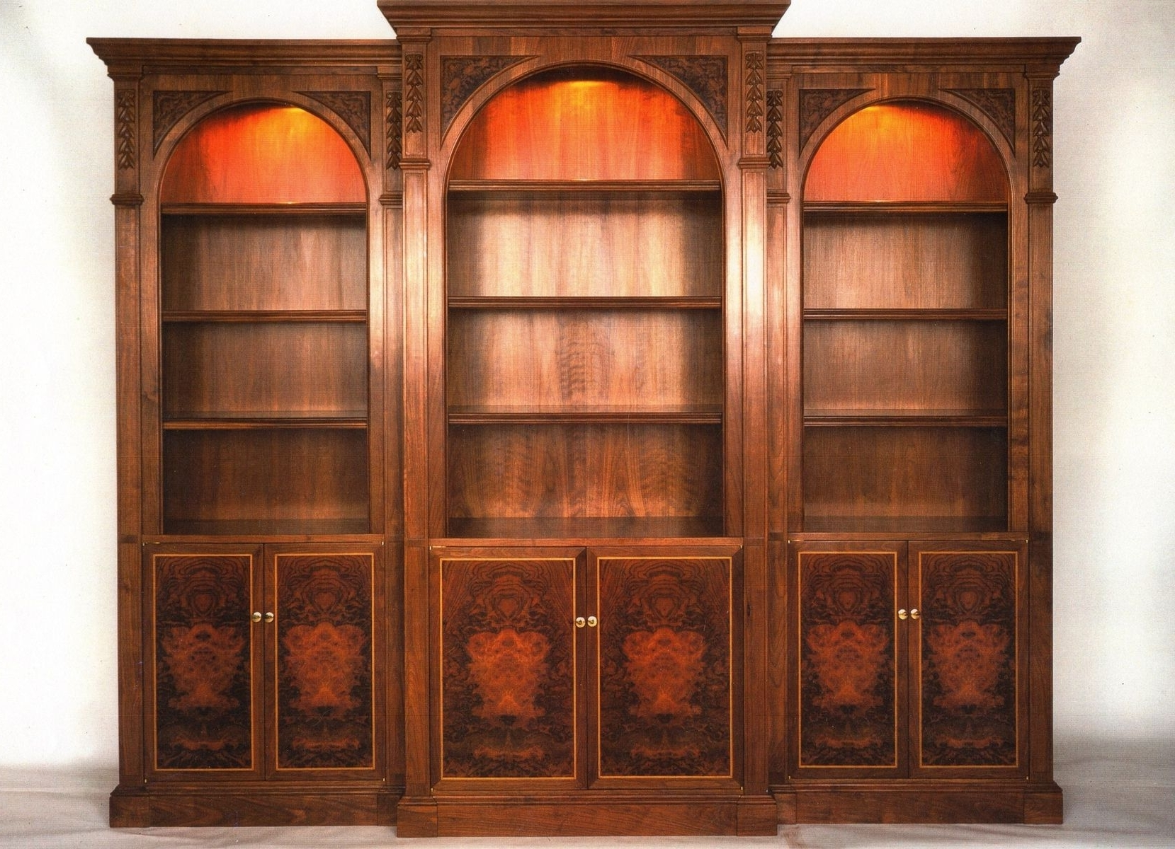 Most Recent Hand Made Walnut Bookcasecoastal Woodsmith (View 6 of 15)