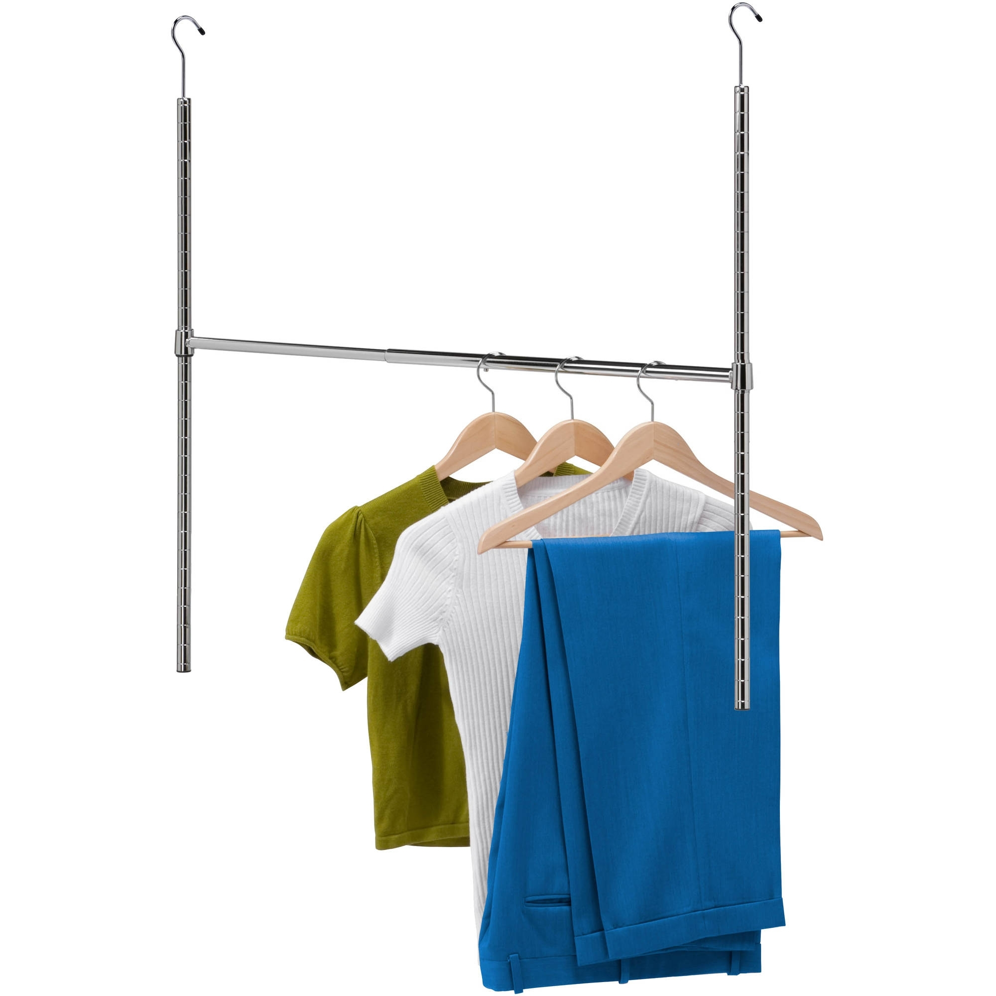 how with on shelf wardrobe r and hang hanger inspirations great rod an design oval your brackets wall clothes holder to hanging parts rods closet for angled a bar