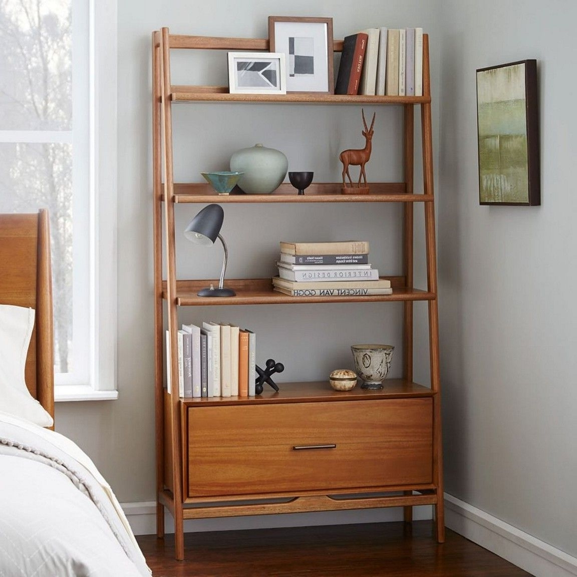 Most Recent Midcentury Bookcases For 20+ Beautiful Vintage Mid Century Modern Bedroom Design Ideas (View 9 of 15)