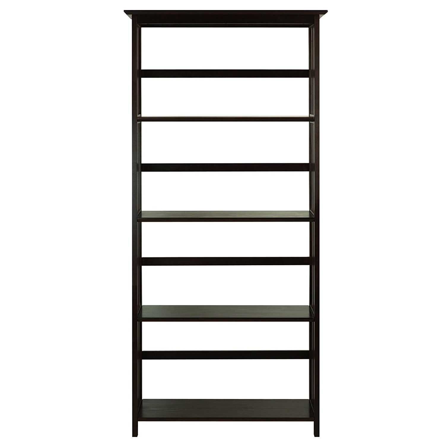Most Recent Mission Bookcases In Amazon: Casual Home Mission Style 5 Shelf Bookcase, Espresso (View 5 of 15)