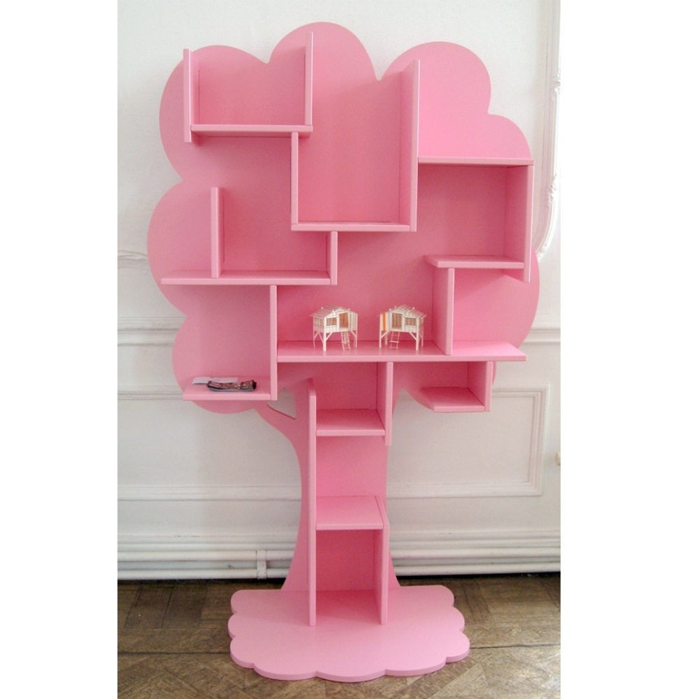 pink tier shelf overstock product over pasir open free on bookcase garden shipping orders furinno home