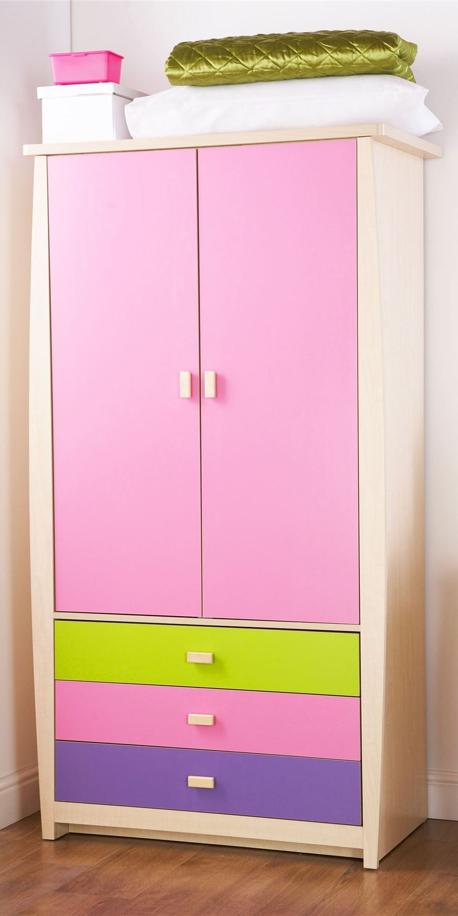 Most Recent Pink Sydney Range Set 3' Storage Bed Wardrobe Bedside Desk Drawer In Childrens Pink Wardrobes (View 9 of 15)